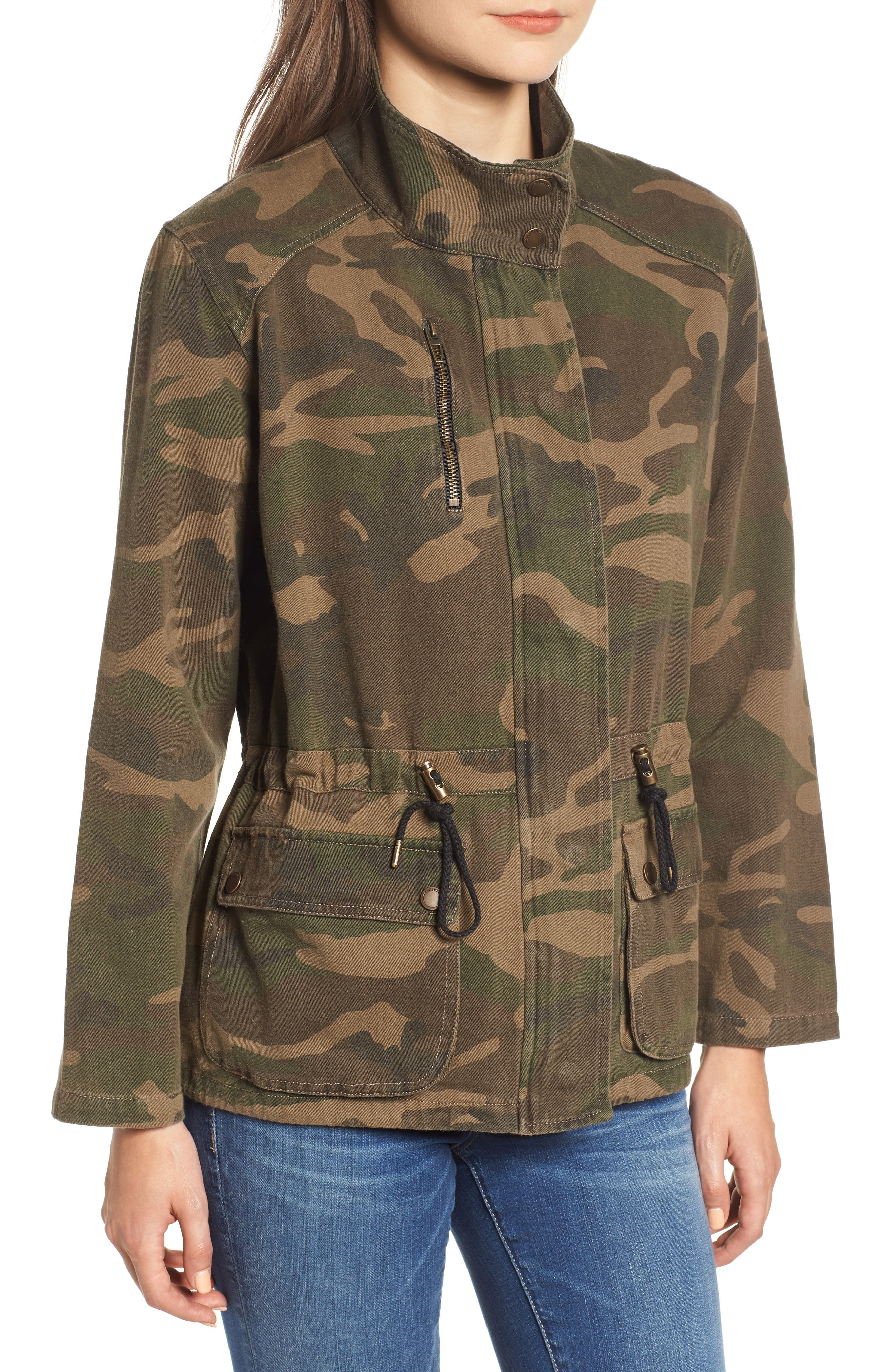 Camo Print Army Jacket,                             Alternate thumbnail 4, color,                             300