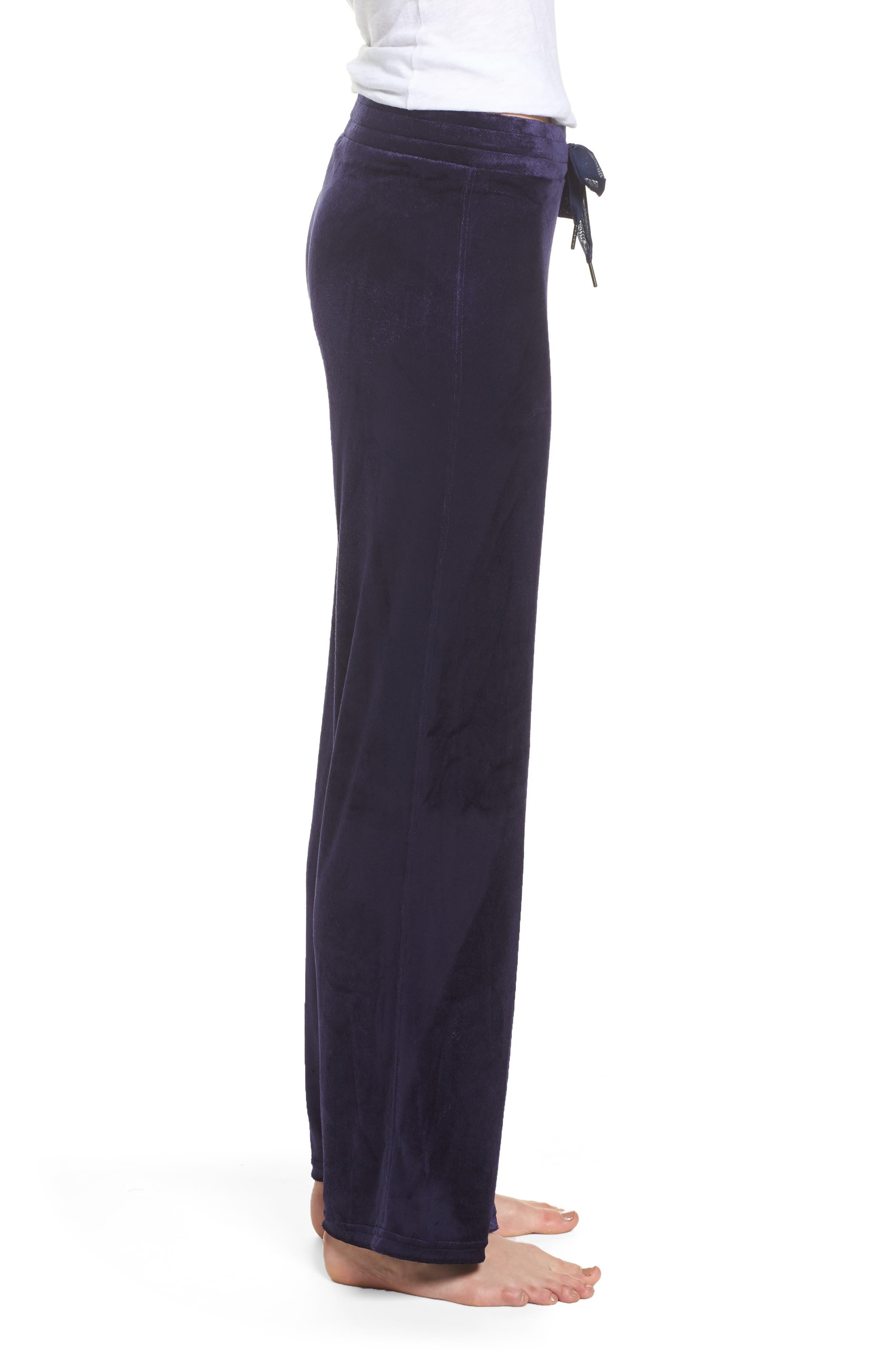 Paris Wide Leg Velour Pants,                             Alternate thumbnail 6, color,