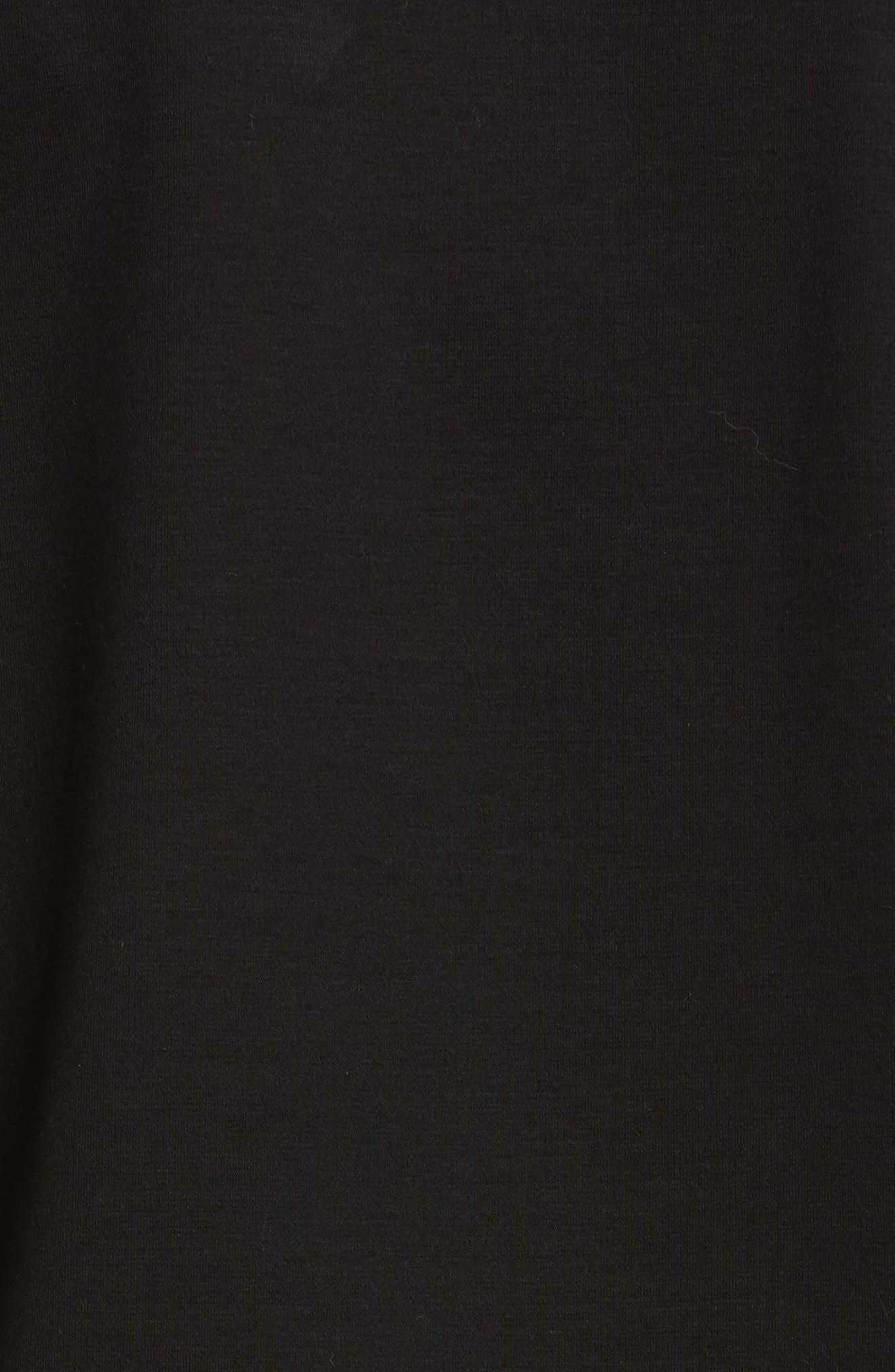 NOIR KEI NINOMIYA,                             Tulle Overlay Tee,                             Alternate thumbnail 5, color,                             BLACK