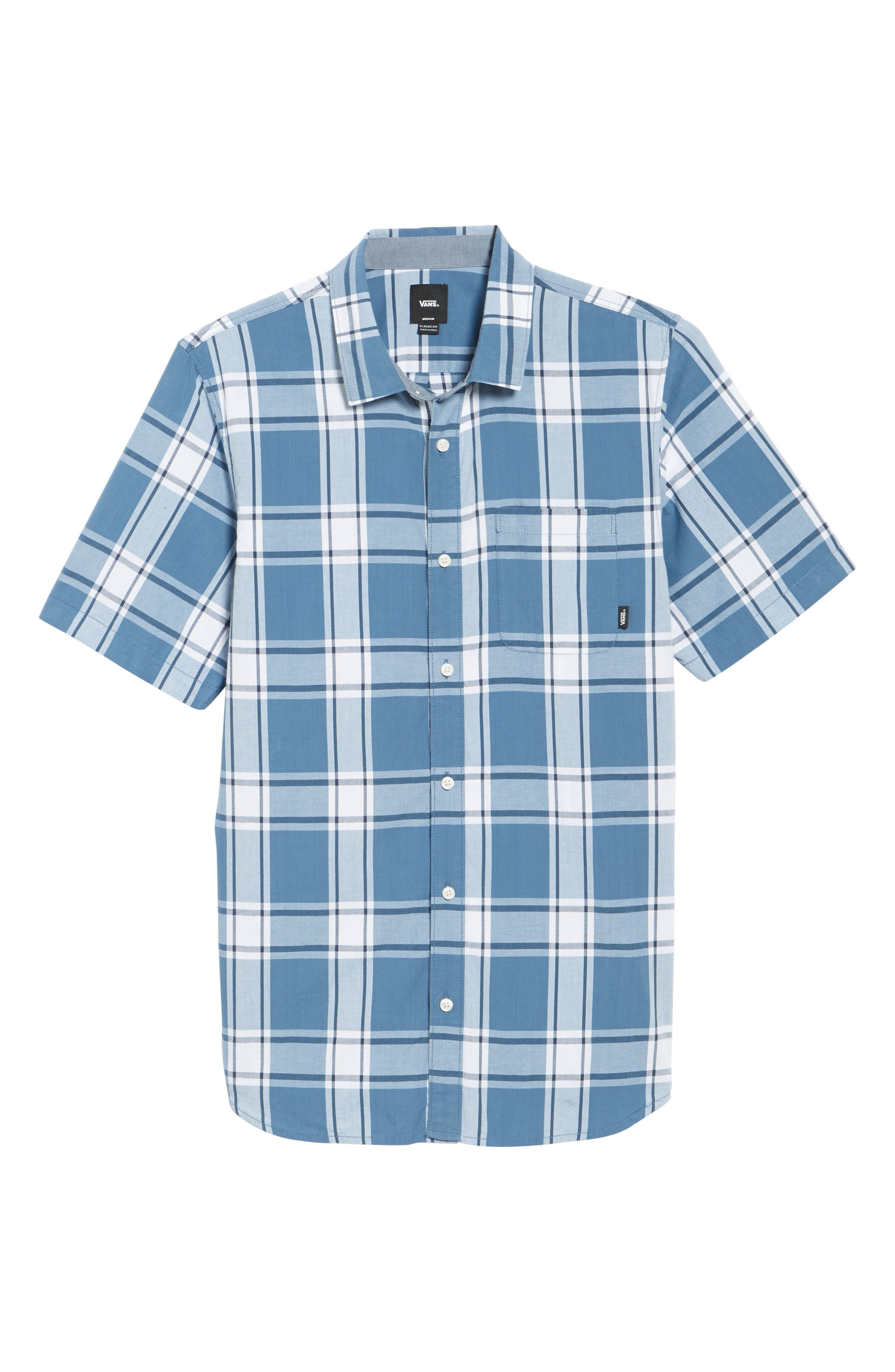 Mayfield Short Sleeve Plaid Shirt,                             Alternate thumbnail 6, color,                             420