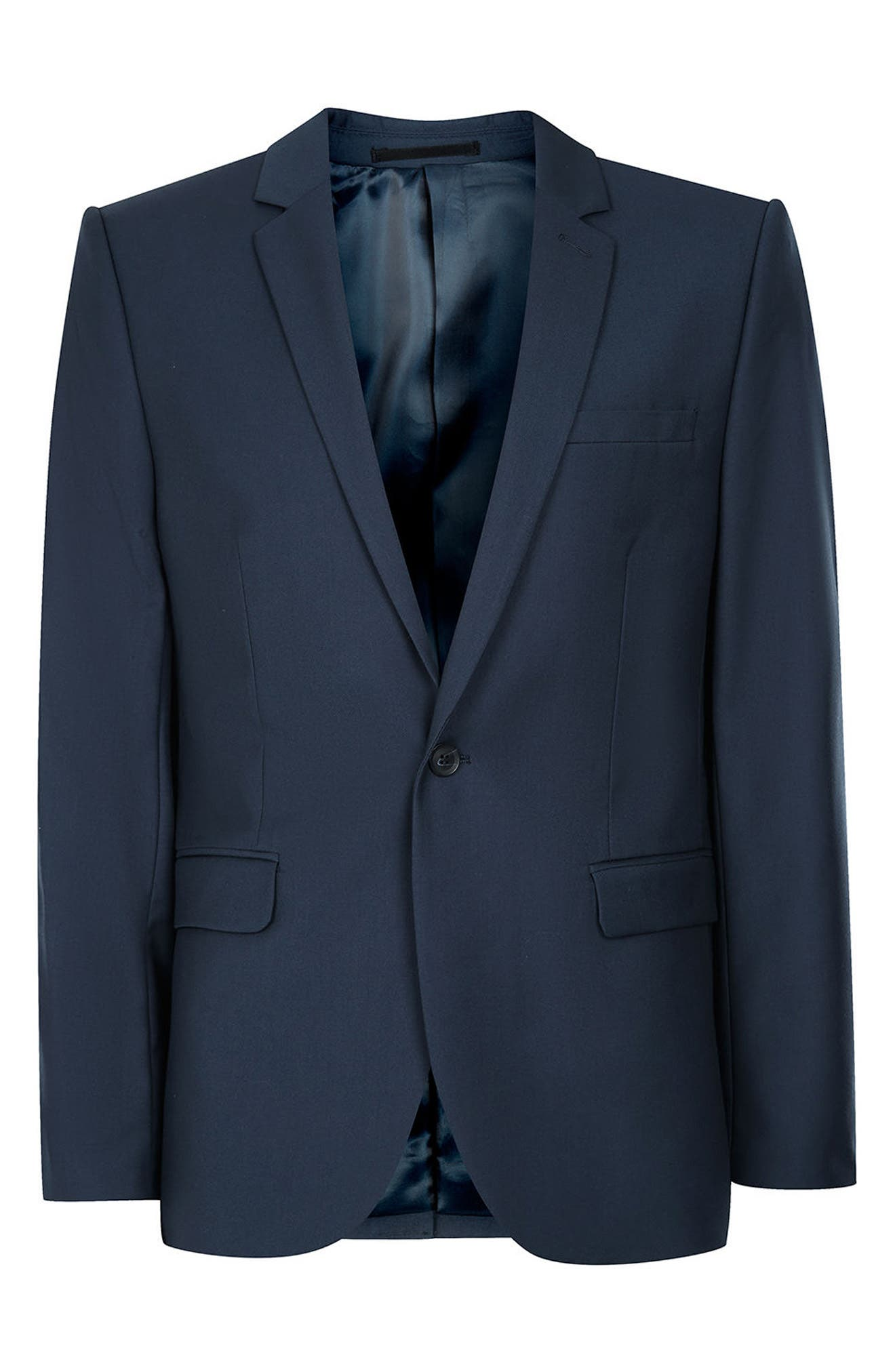 Skinny Fit Suit Jacket,                             Alternate thumbnail 4, color,                             420