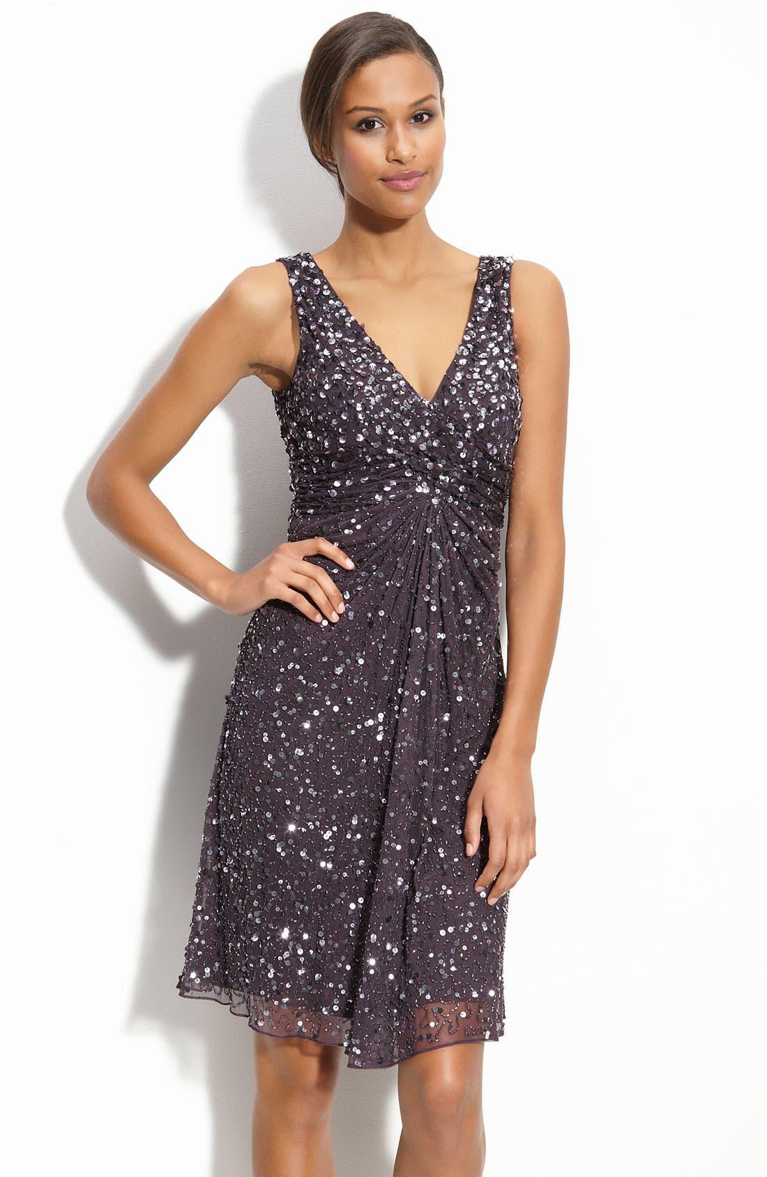 PATRA Sequin Mesh Dress, Main, color, 206