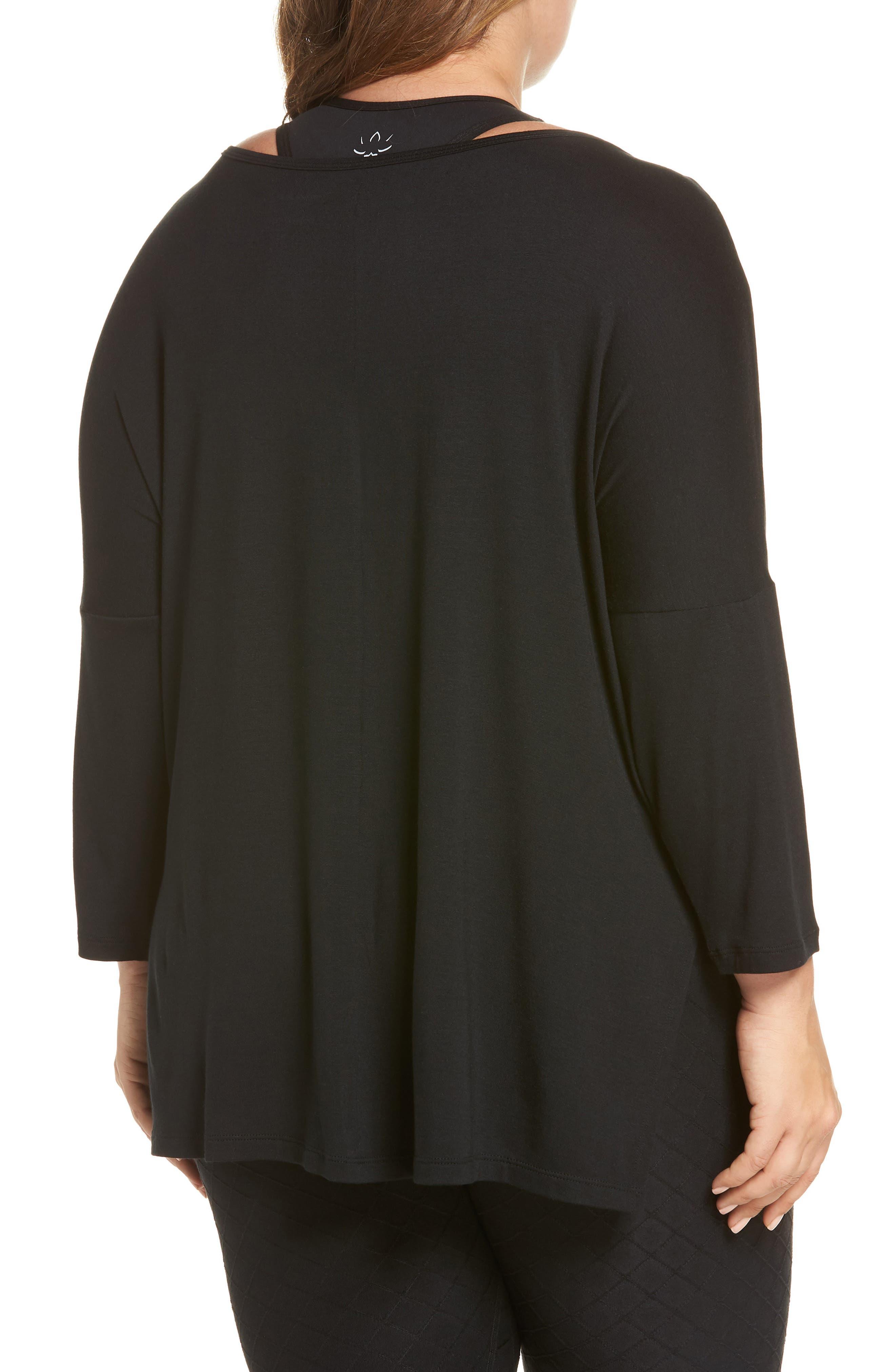 Slink It Boxy Pullover,                             Alternate thumbnail 2, color,                             BLACK