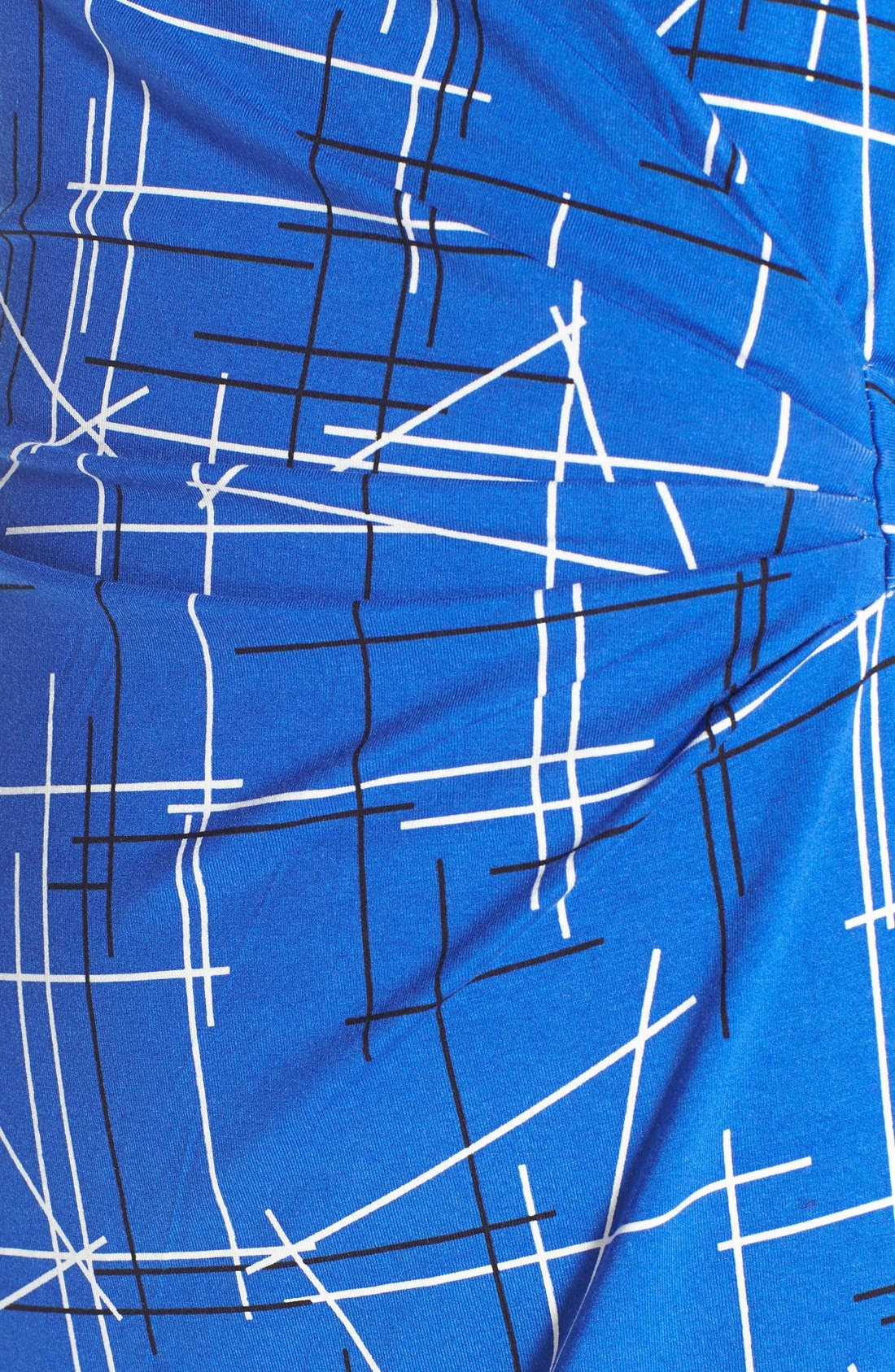 Print Faux Wrap Dress,                             Alternate thumbnail 5, color,                             411