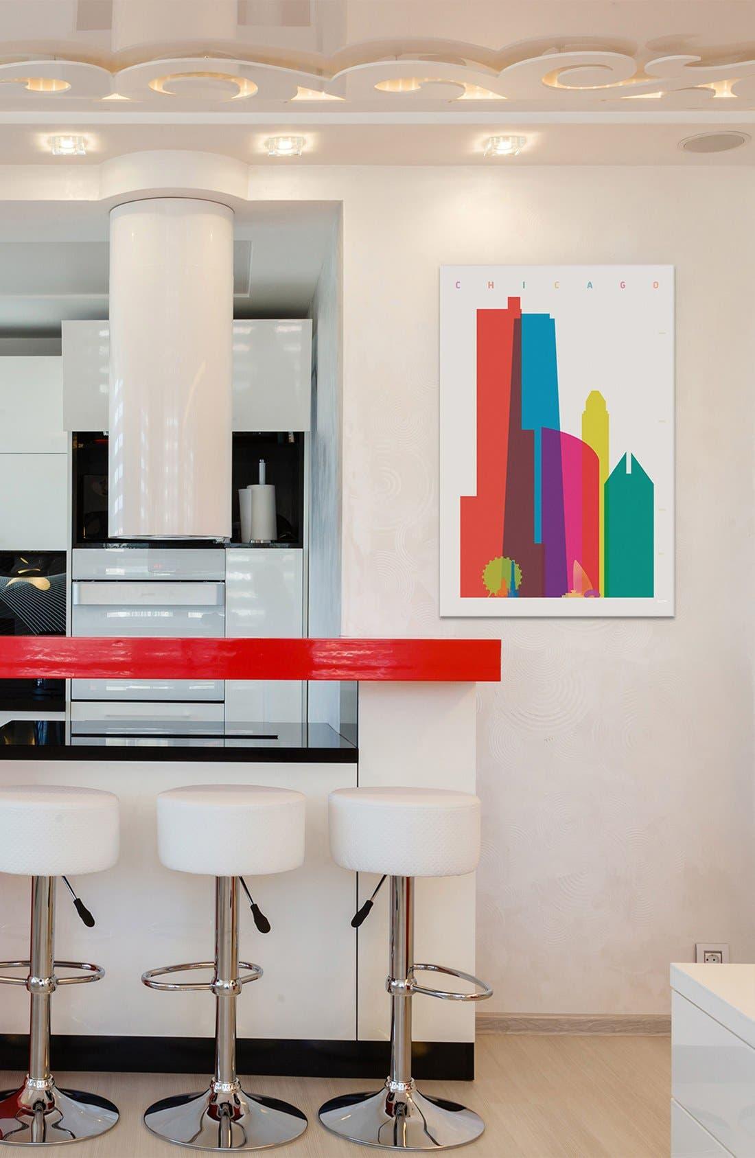 'Chicago' Giclée Print Canvas Art,                             Alternate thumbnail 2, color,                             100