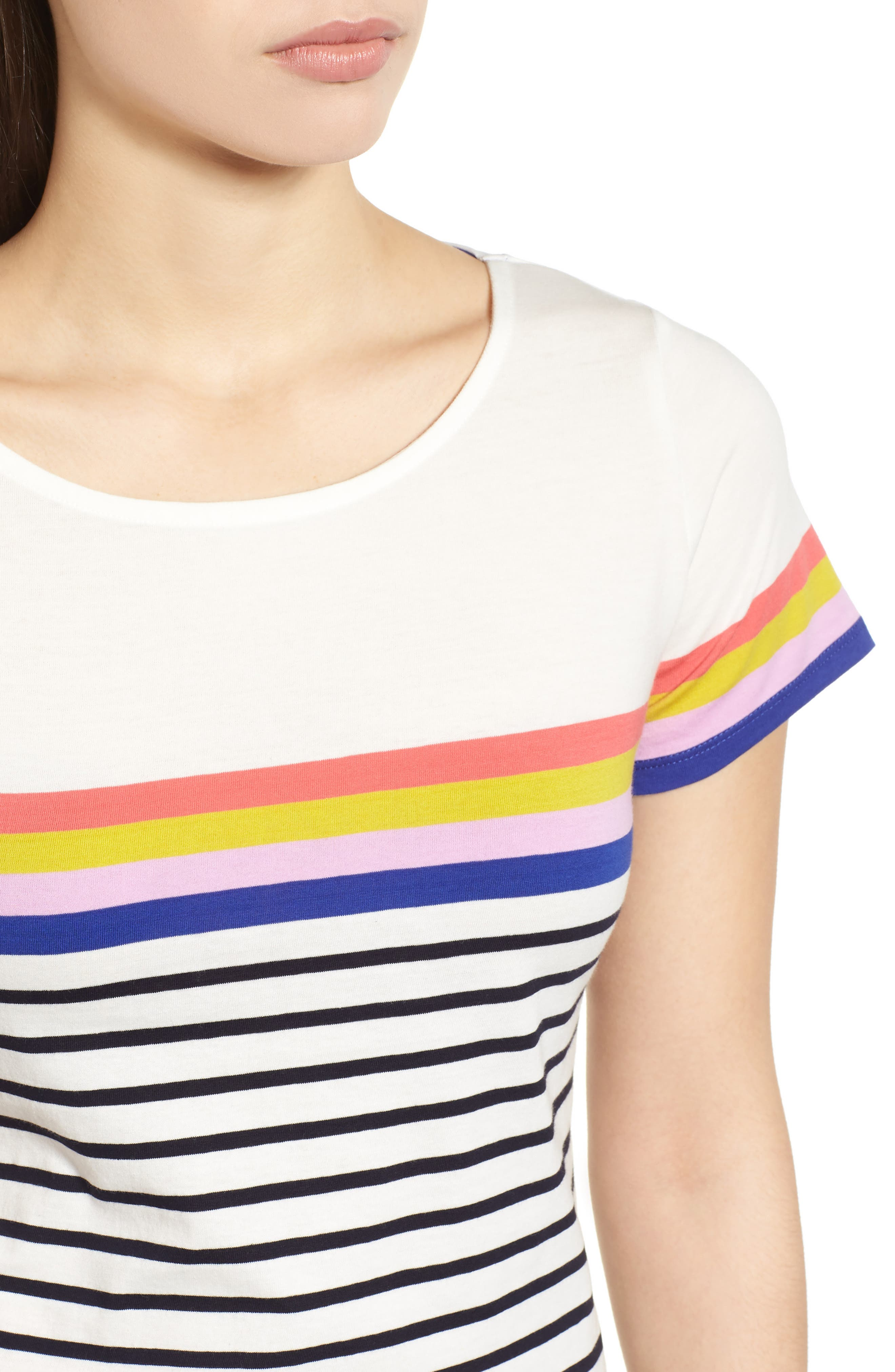Breton Short Sleeve Stripe Cotton Top,                             Alternate thumbnail 20, color,
