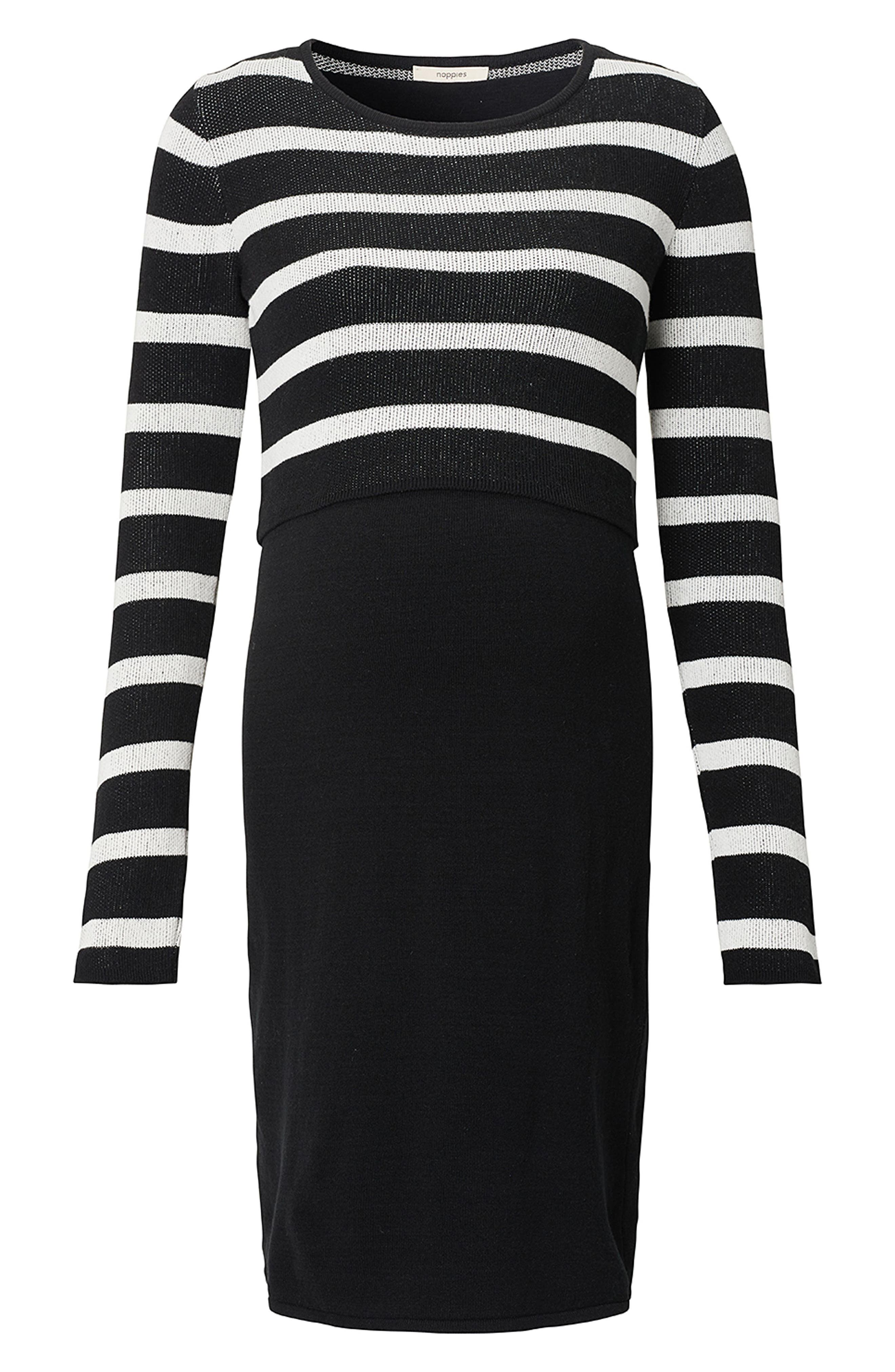 Imara Nursing/Maternity Dress,                             Alternate thumbnail 2, color,                             BLACK
