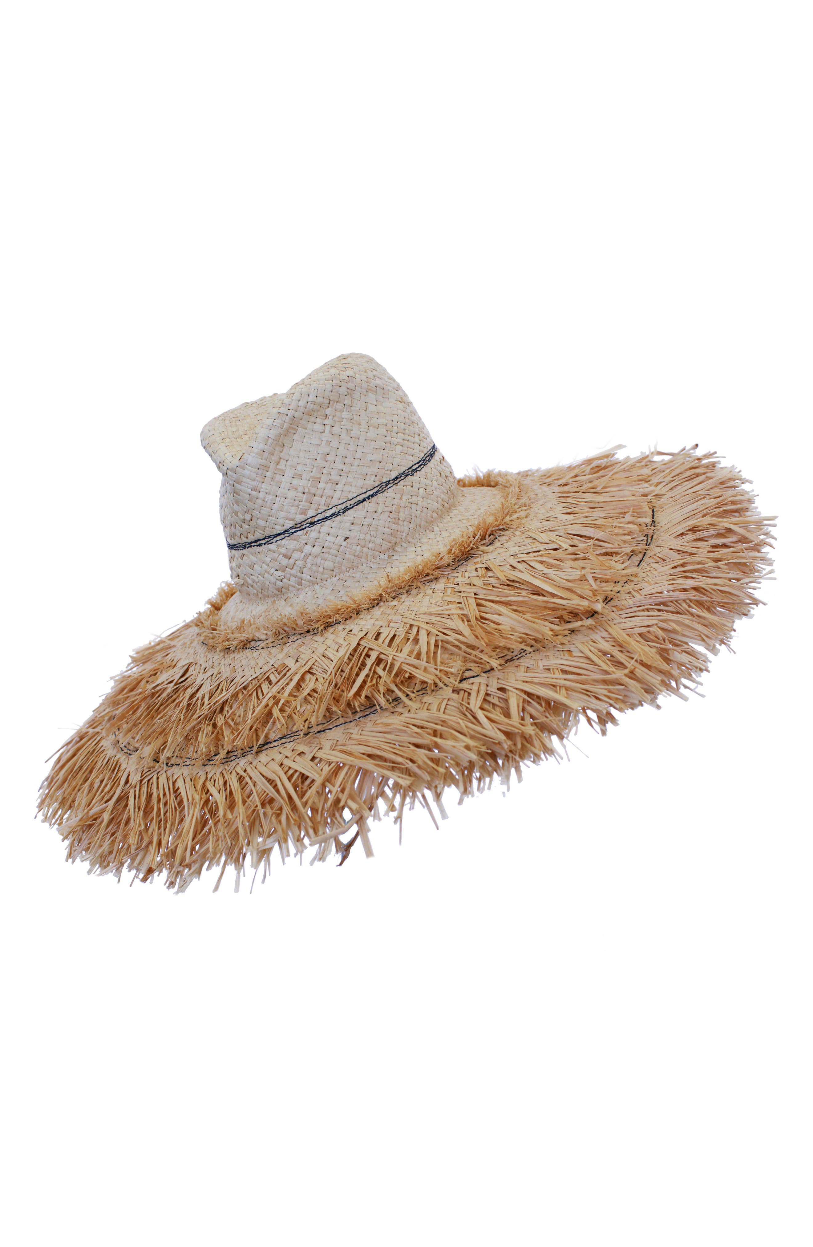 Coconut Raffia Sun Hat,                             Main thumbnail 1, color,                             NATURAL