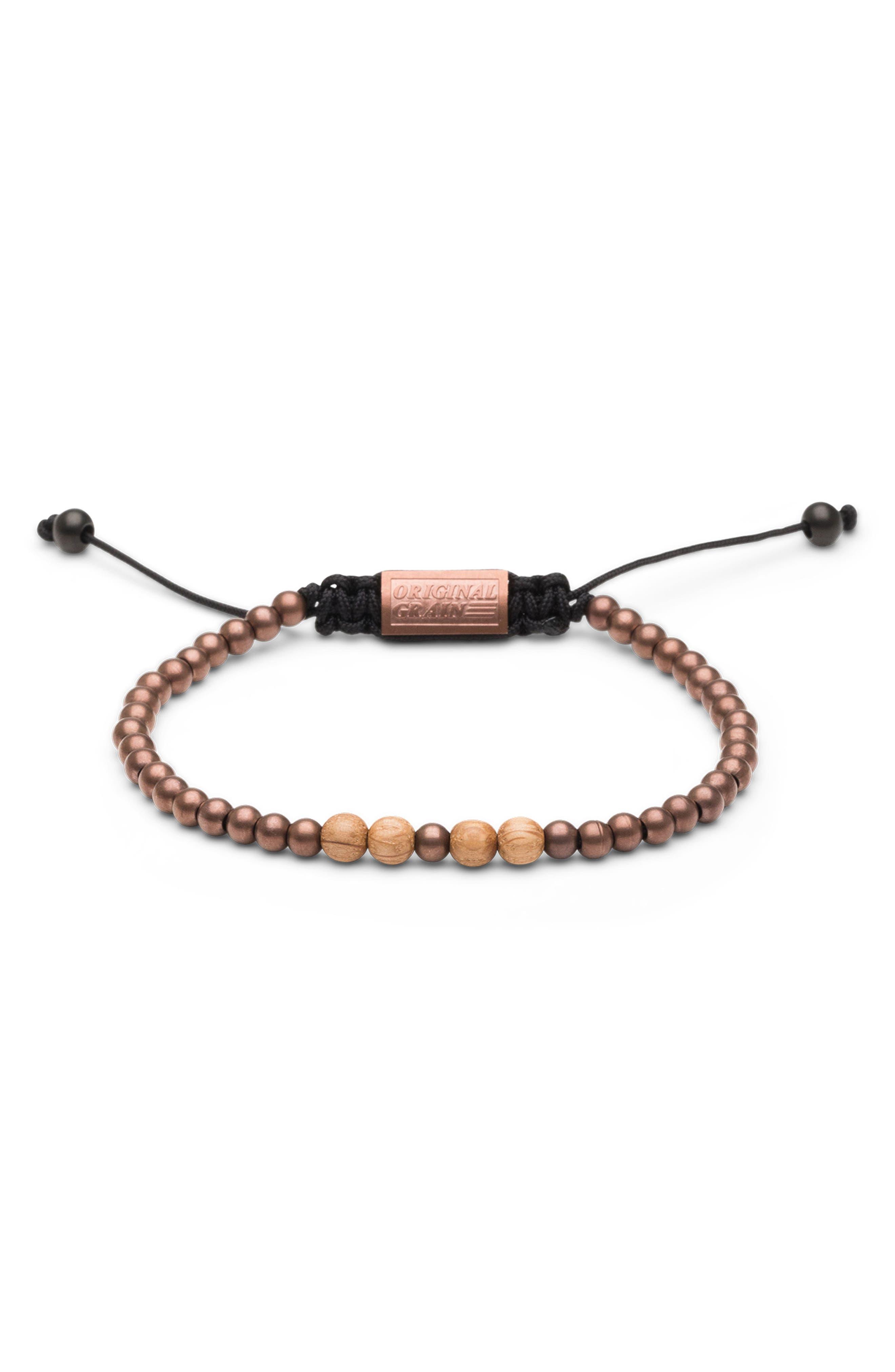 Bead Bracelet,                             Main thumbnail 1, color,                             WHISKEY ESPRESSO