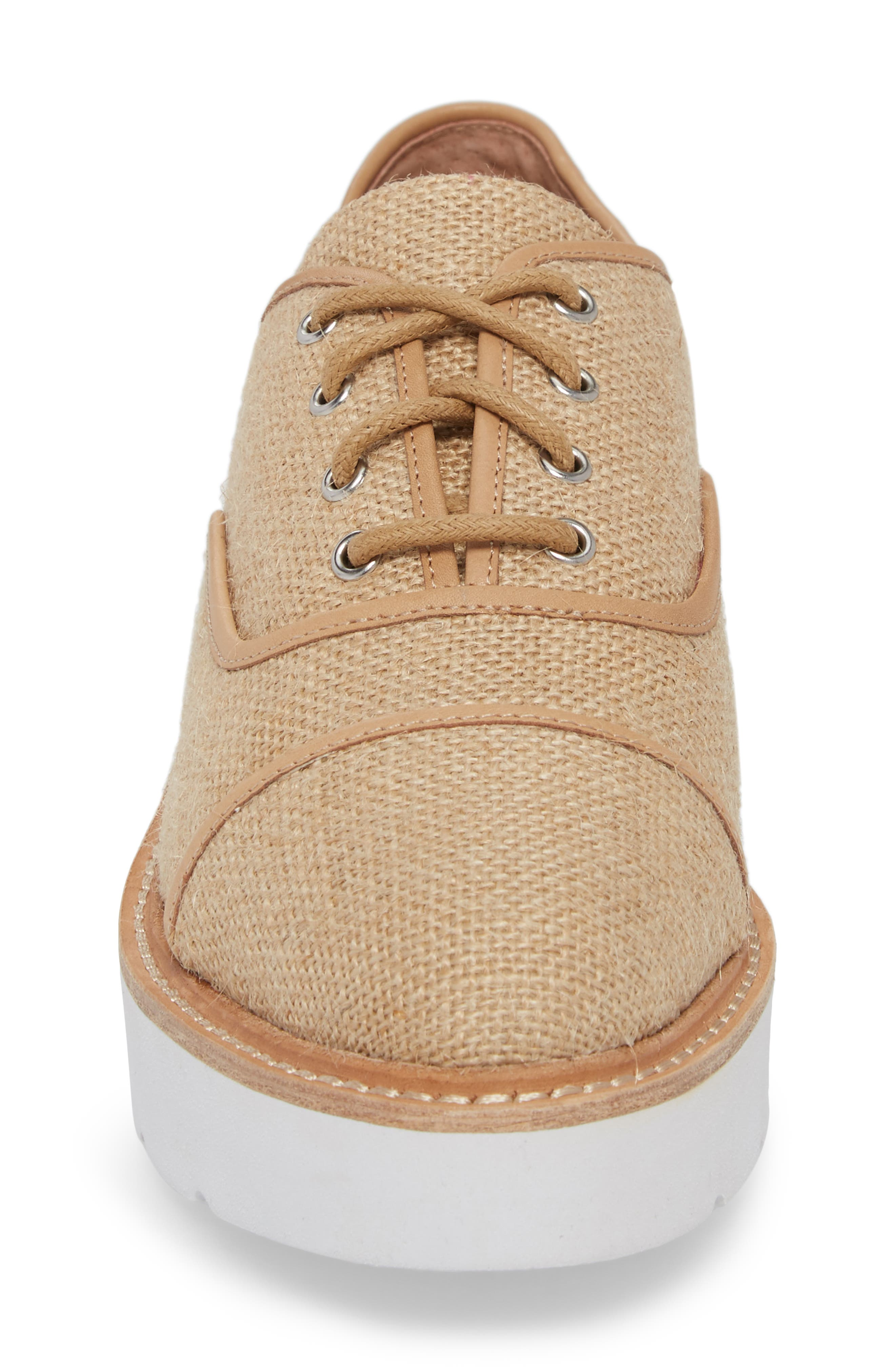 Mavis Cap Toe Platform Sneaker,                             Alternate thumbnail 4, color,                             250