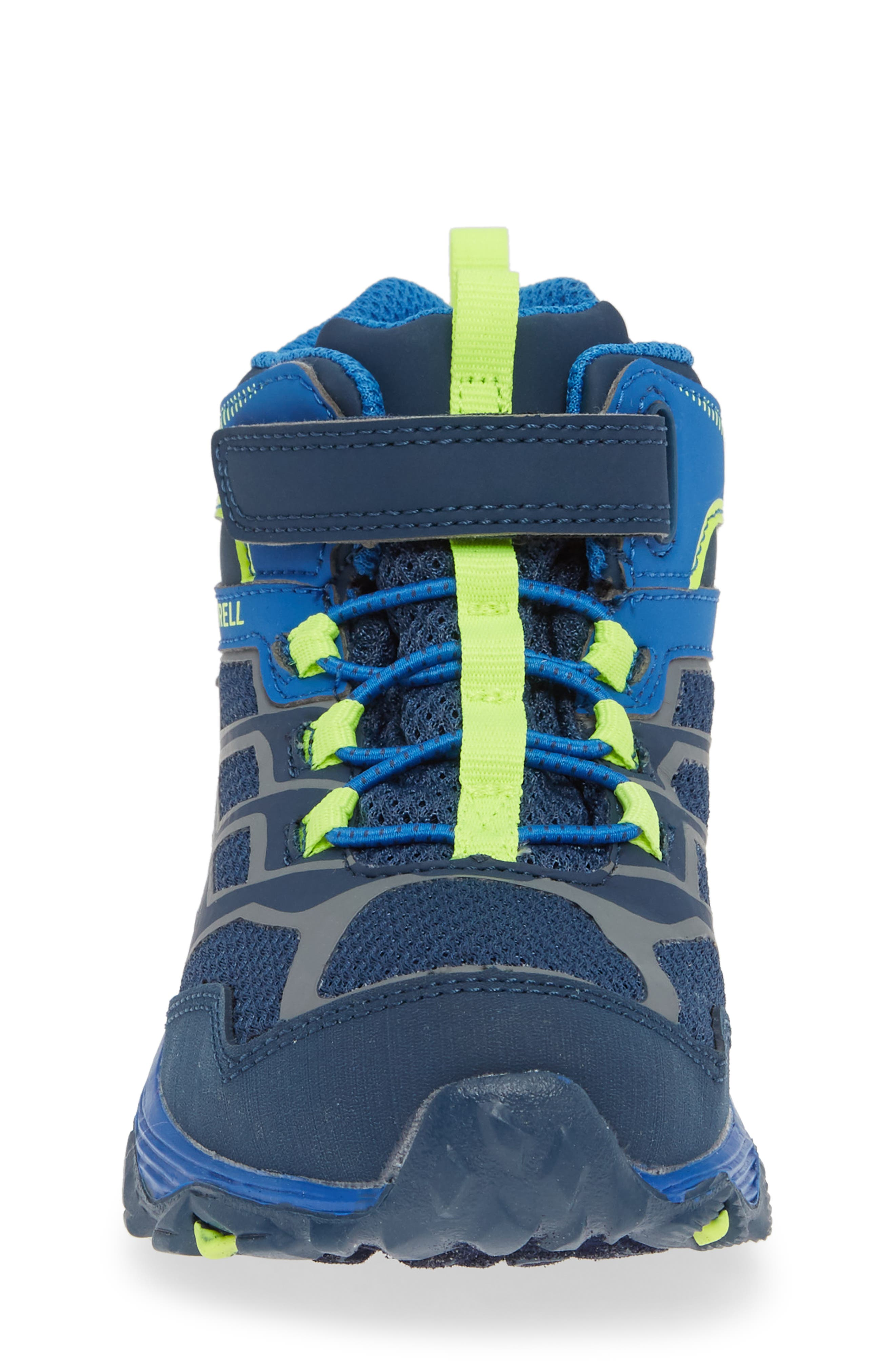 Moab FST Mid Top Waterproof Sneaker Boot,                             Alternate thumbnail 4, color,                             NAVY/ COBALT