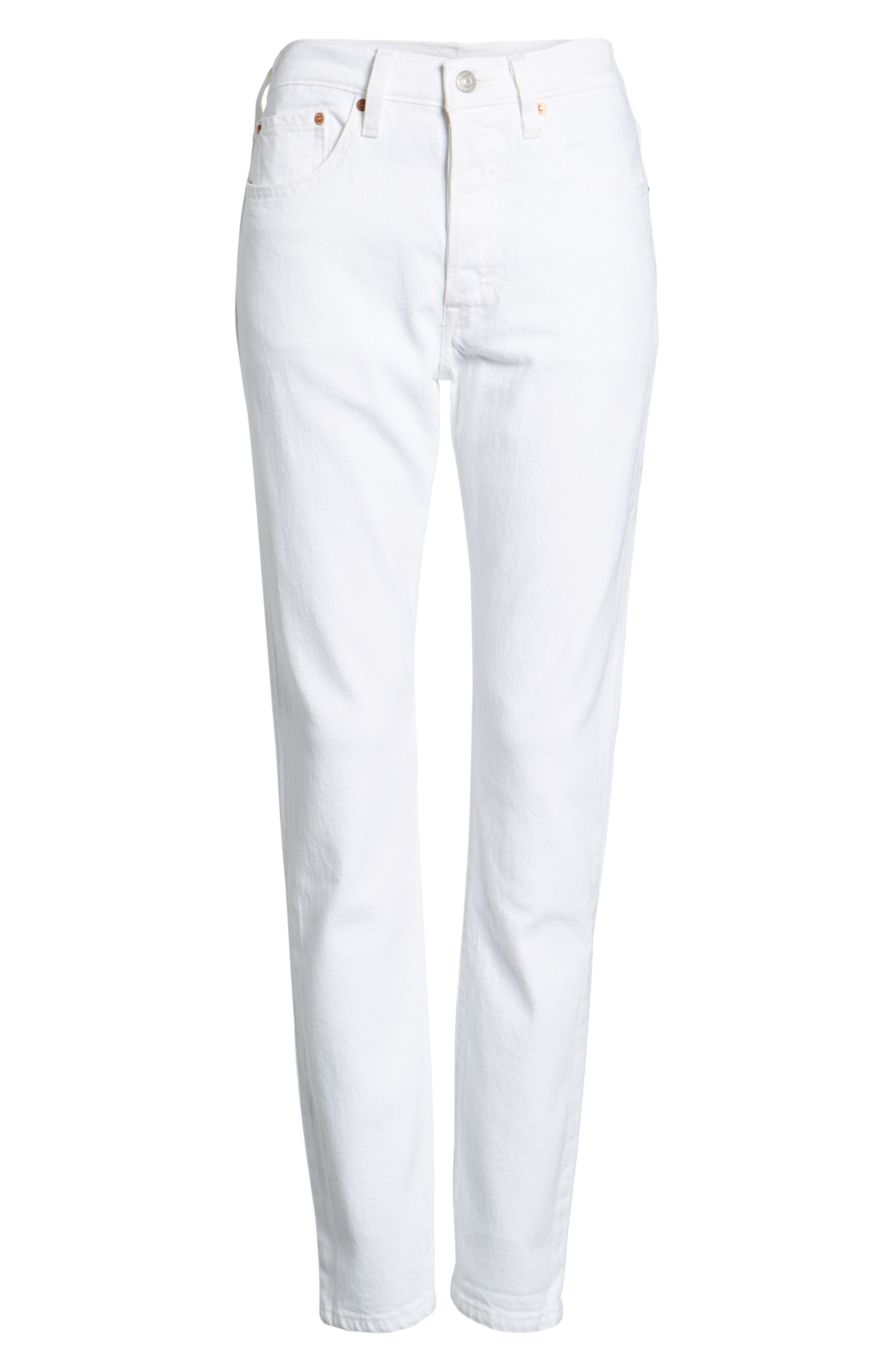 501<sup>®</sup> High Waist Skinny Jeans,                             Alternate thumbnail 7, color,                             100