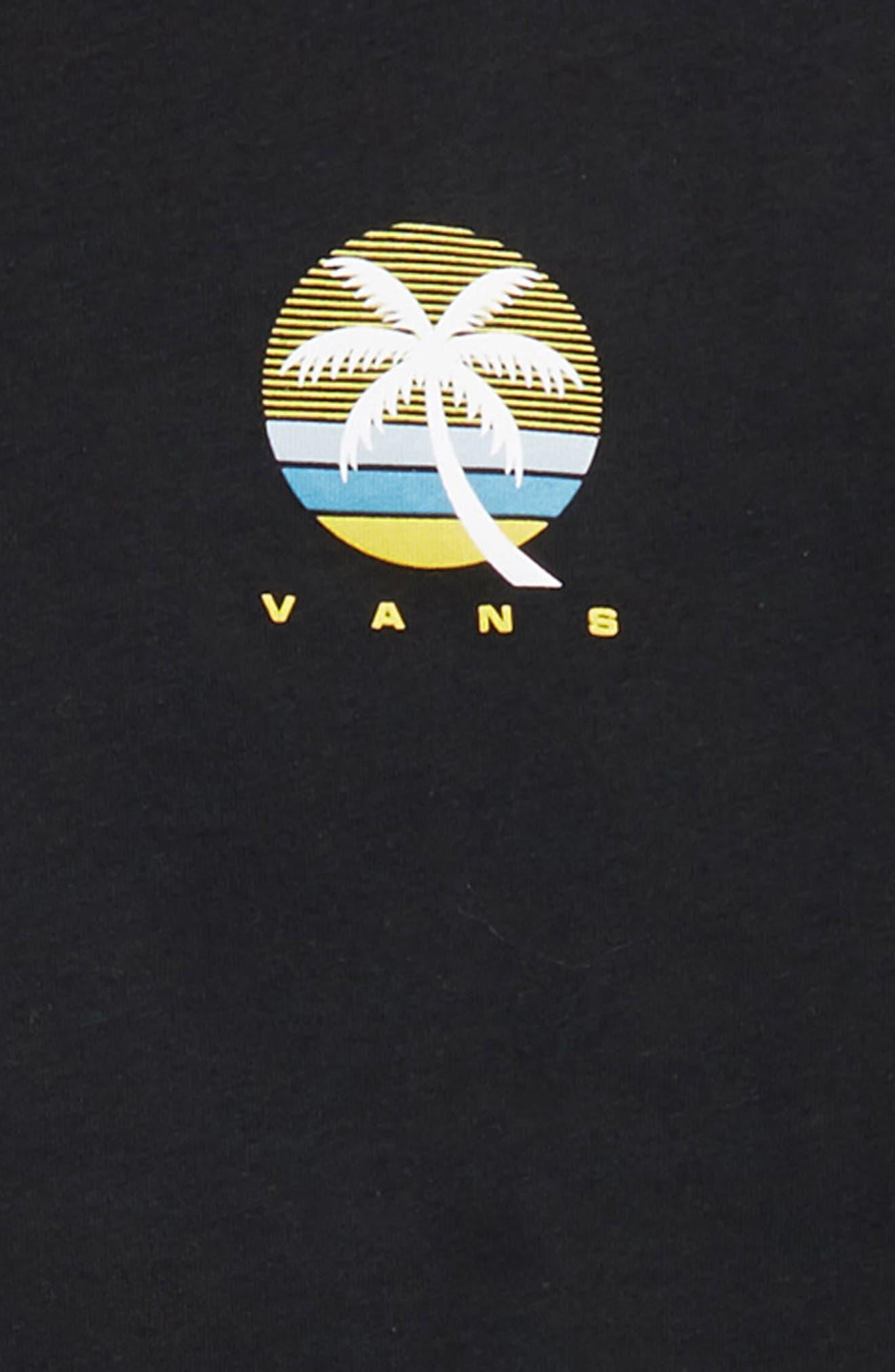 Vintage Tall Palms Graphic T-Shirt,                             Alternate thumbnail 3, color,                             001