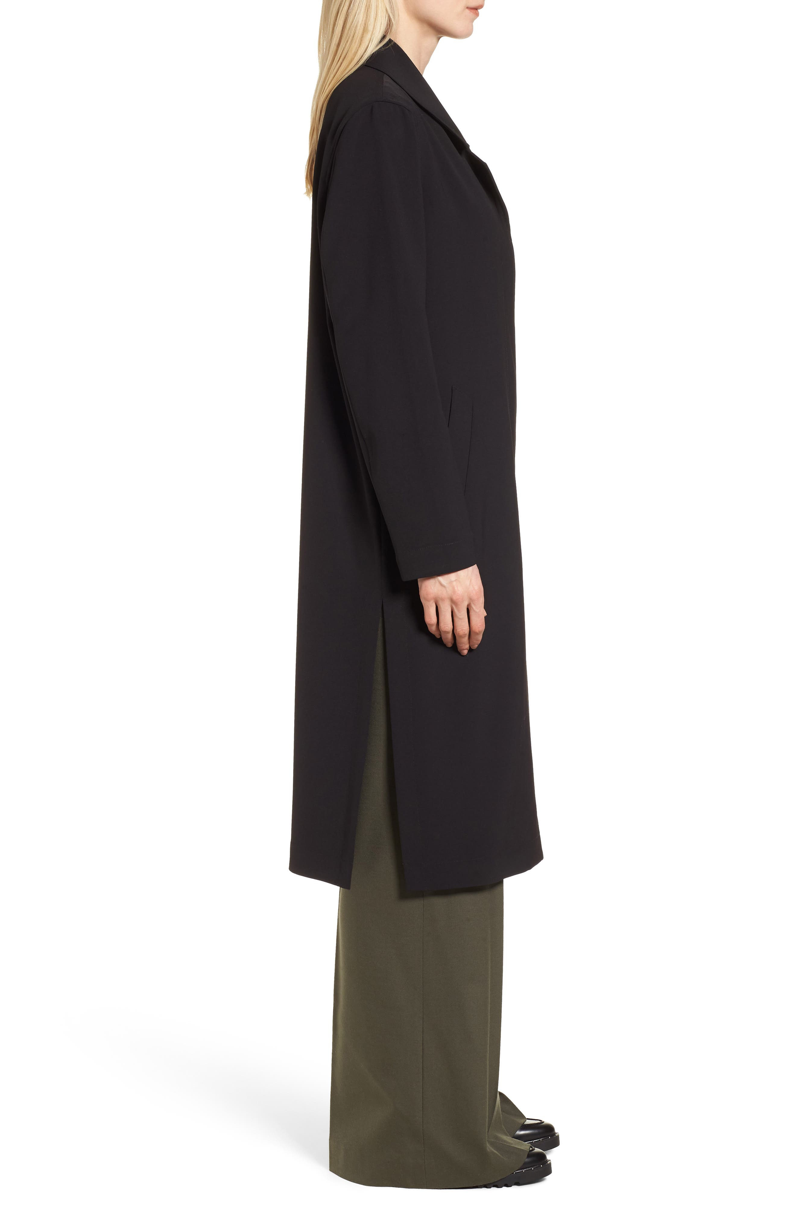 Long Duster Coat,                             Alternate thumbnail 3, color,                             001