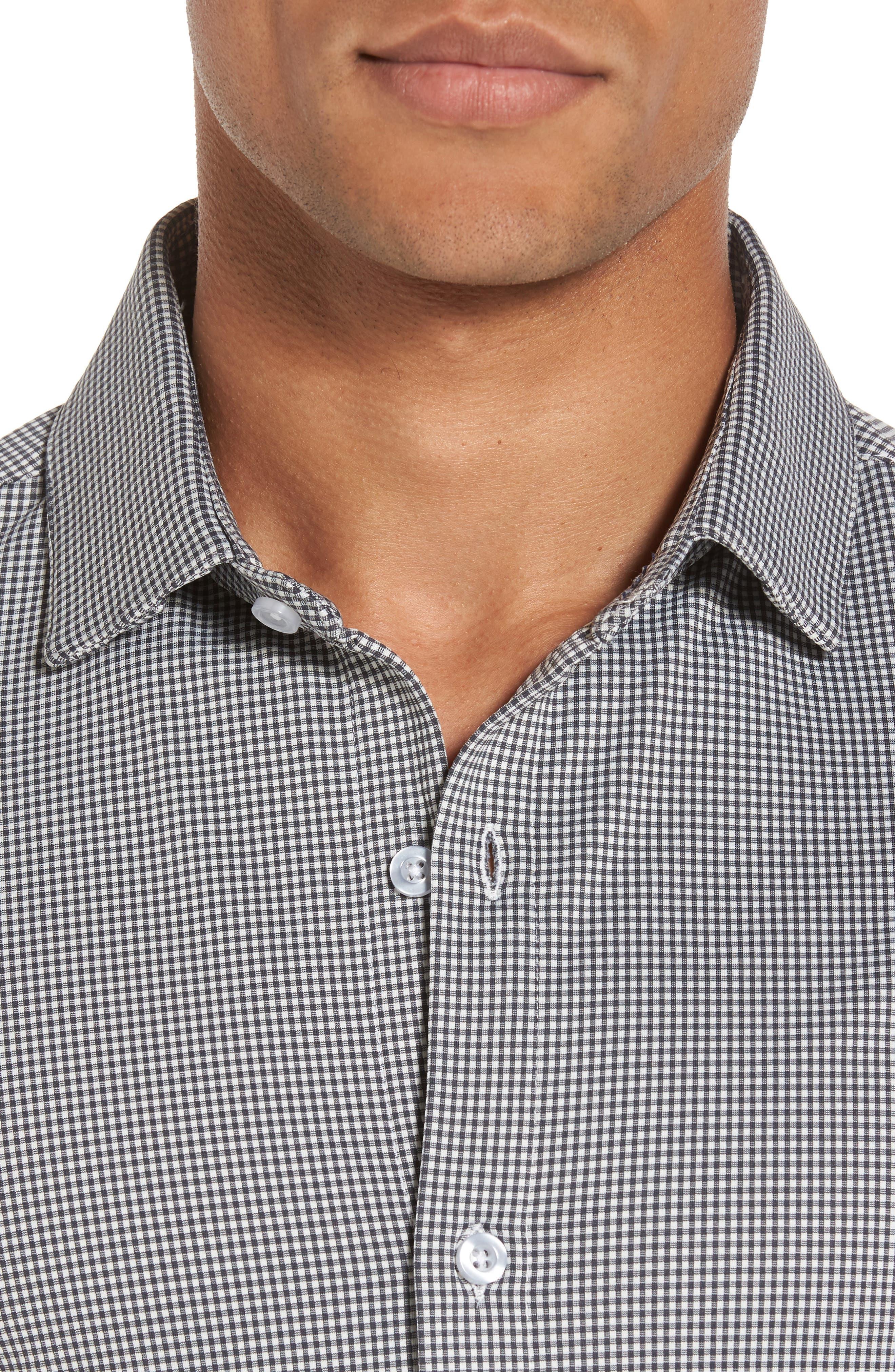 Davenport Gingham Sport Shirt,                             Alternate thumbnail 8, color,