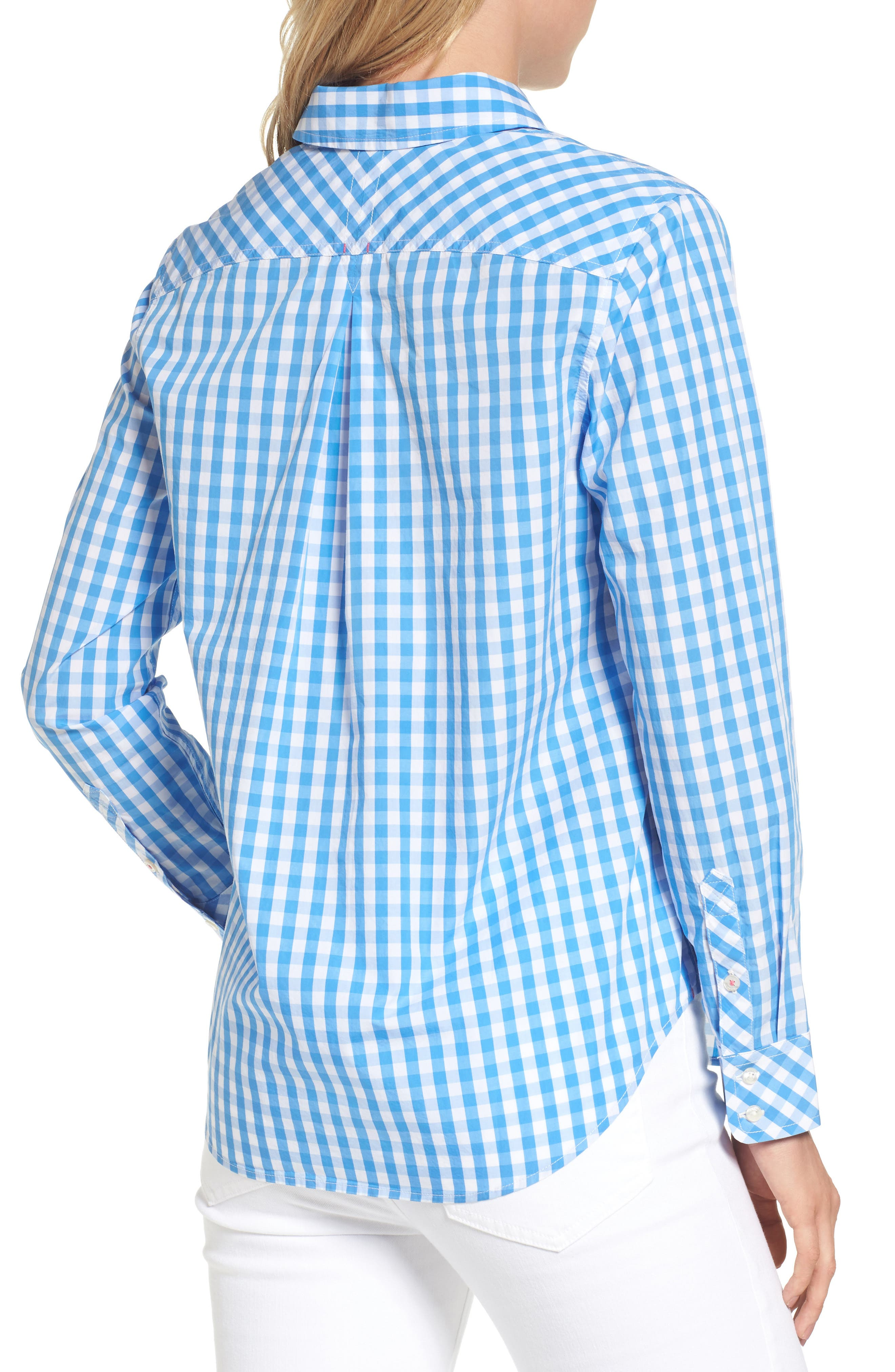 Seabreeze Gingham Pocket Shirt,                             Alternate thumbnail 2, color,                             464