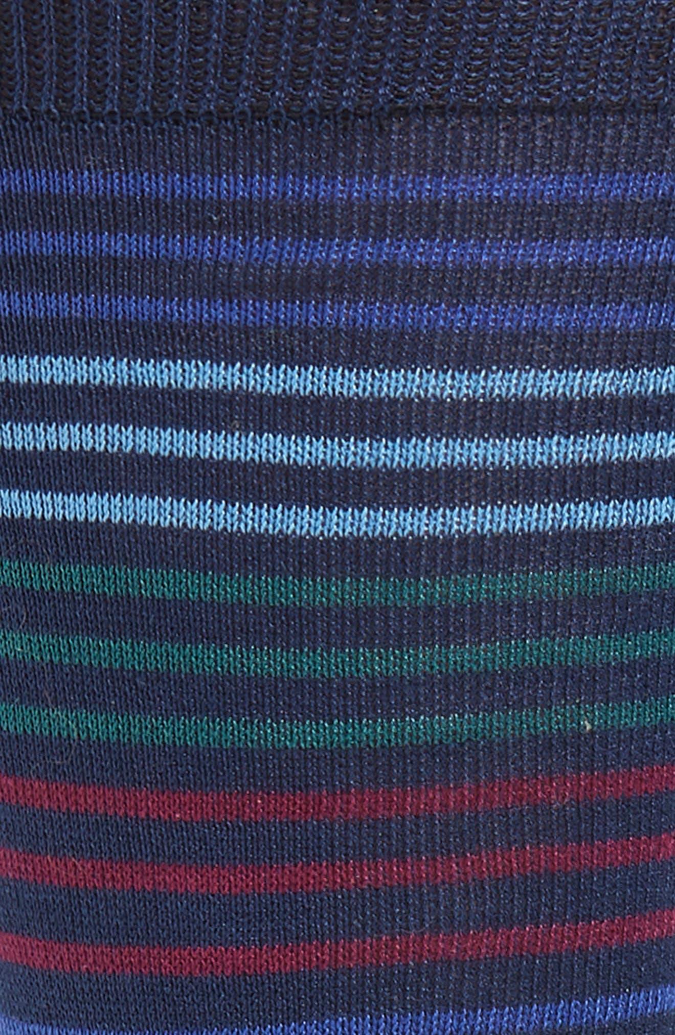 Peko Stripe Socks,                             Alternate thumbnail 2, color,                             BLUE MULTI