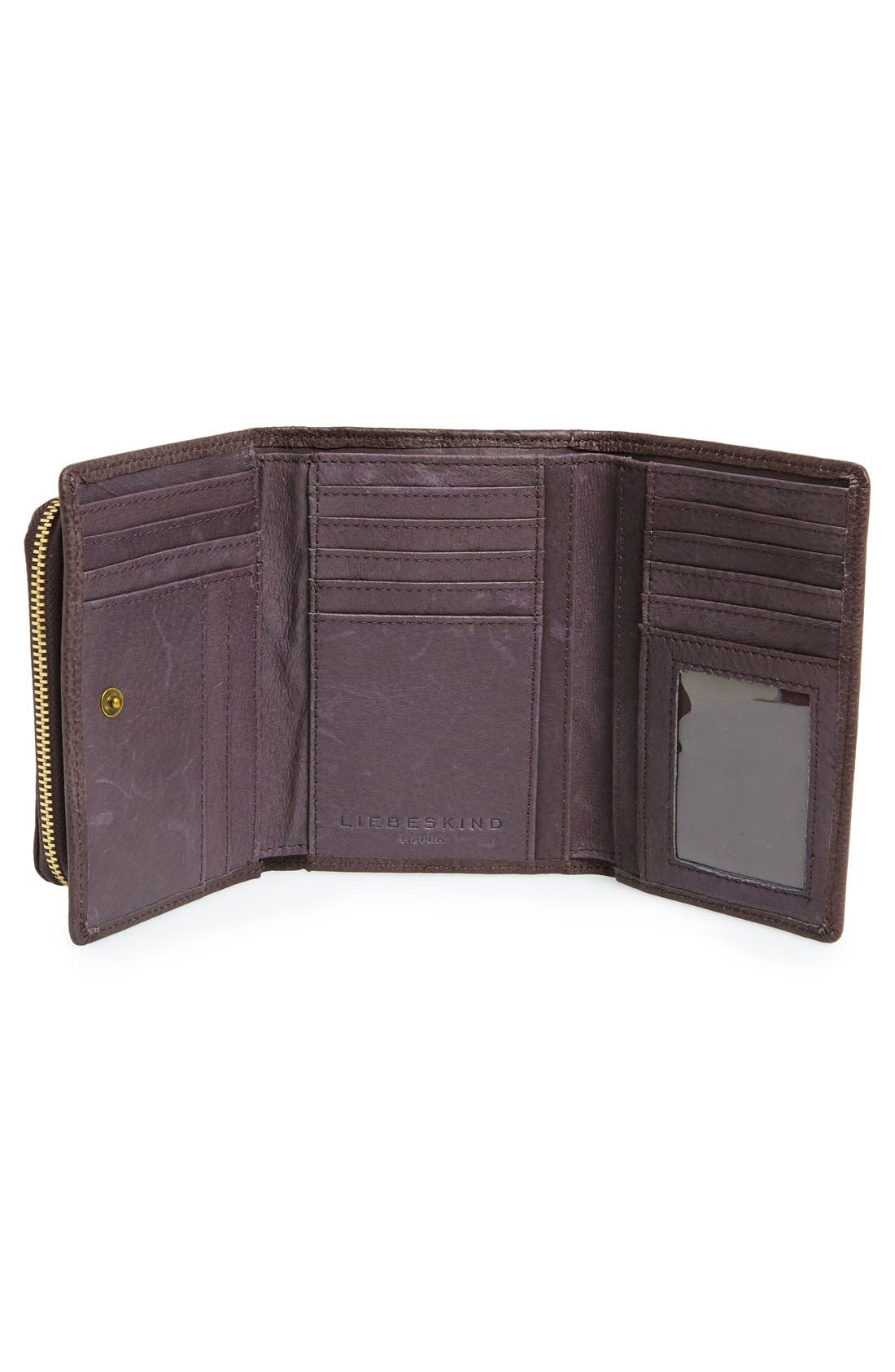 LIEBESKIND,                             'Small Alexandra' Leather Wallet,                             Alternate thumbnail 3, color,                             020
