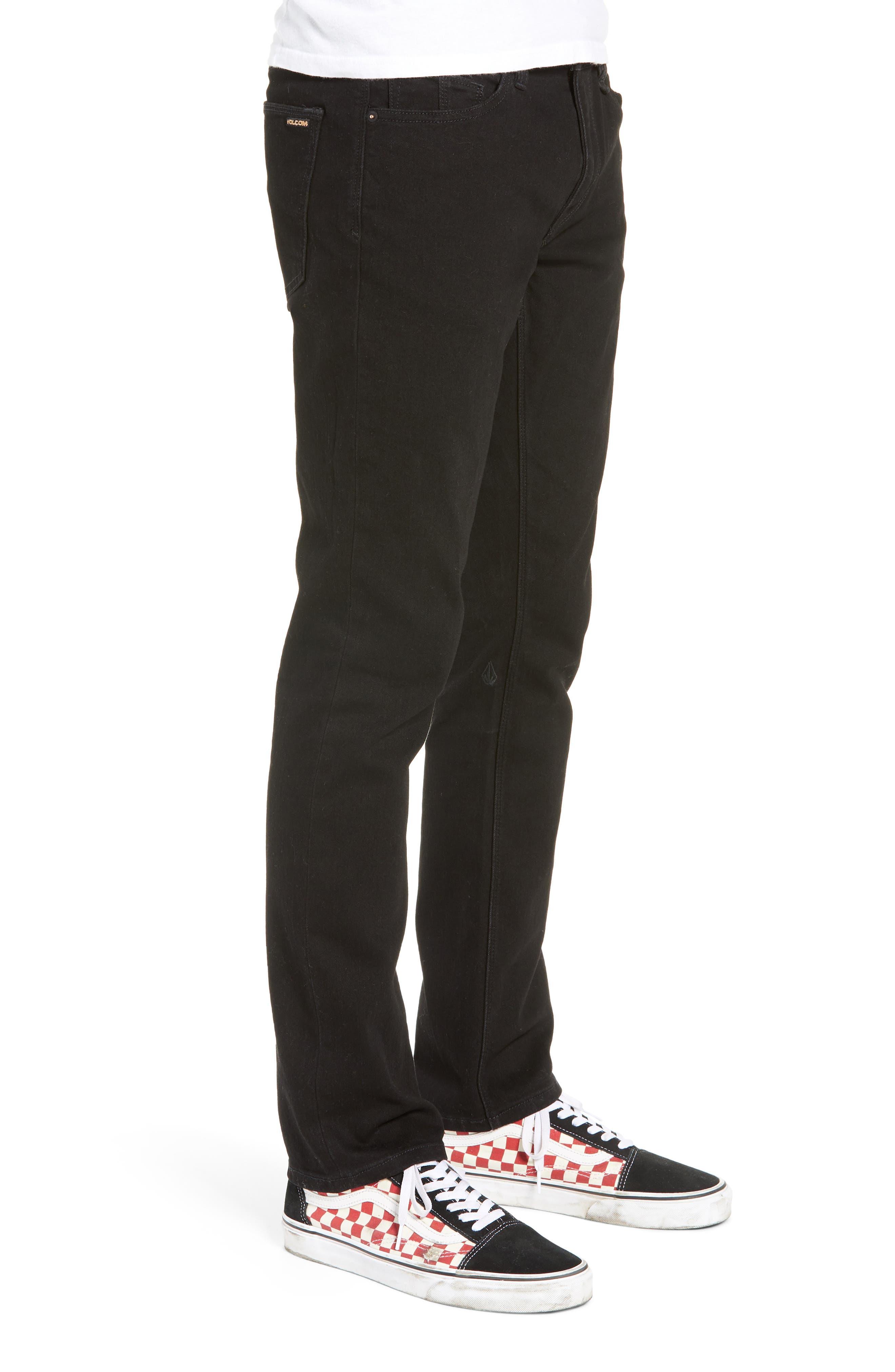 'Vorta' Slim Fit Jeans,                             Alternate thumbnail 3, color,                             BLACK OUT
