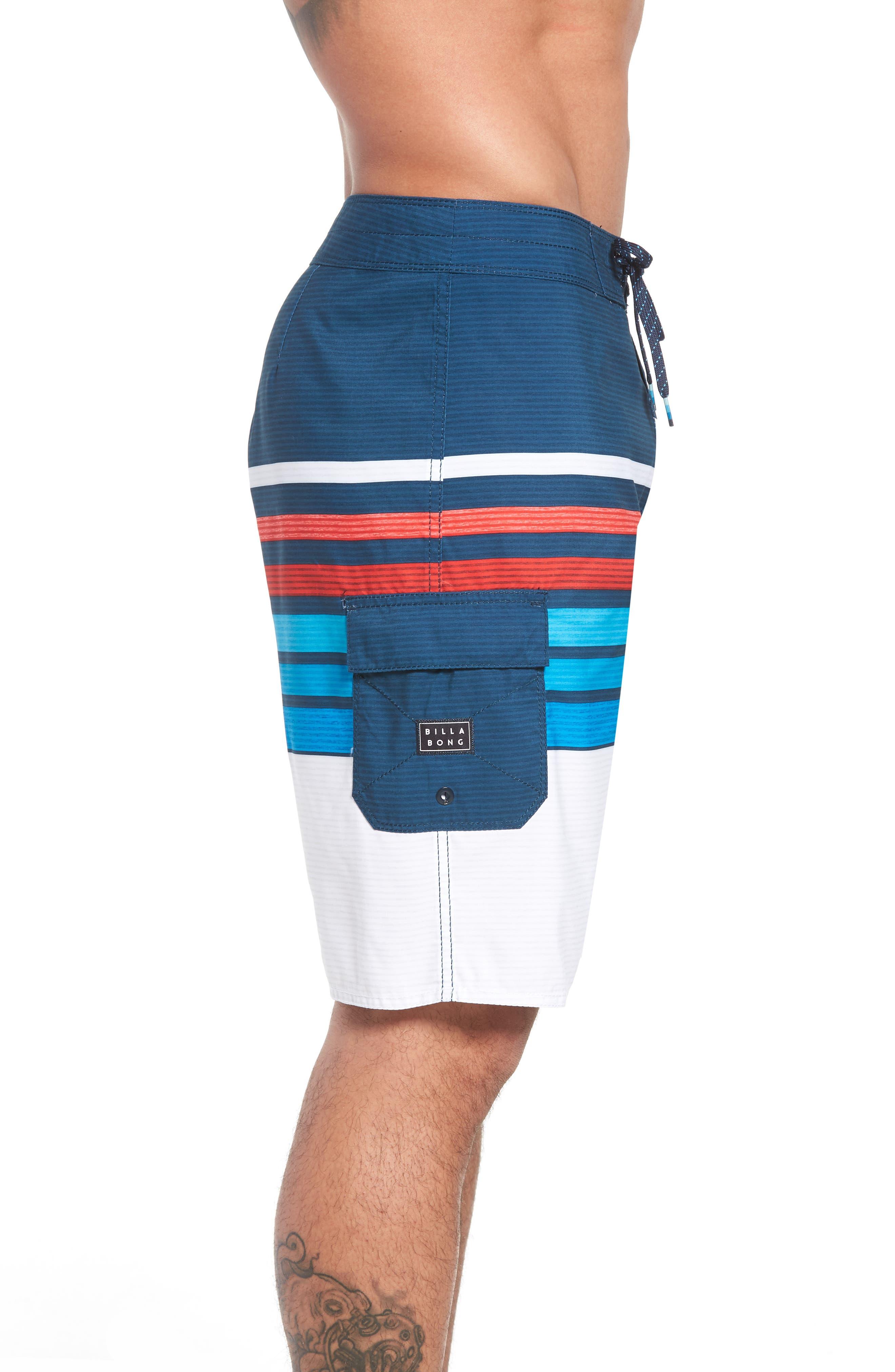 All Day OG Stripe Board Shorts,                             Alternate thumbnail 8, color,