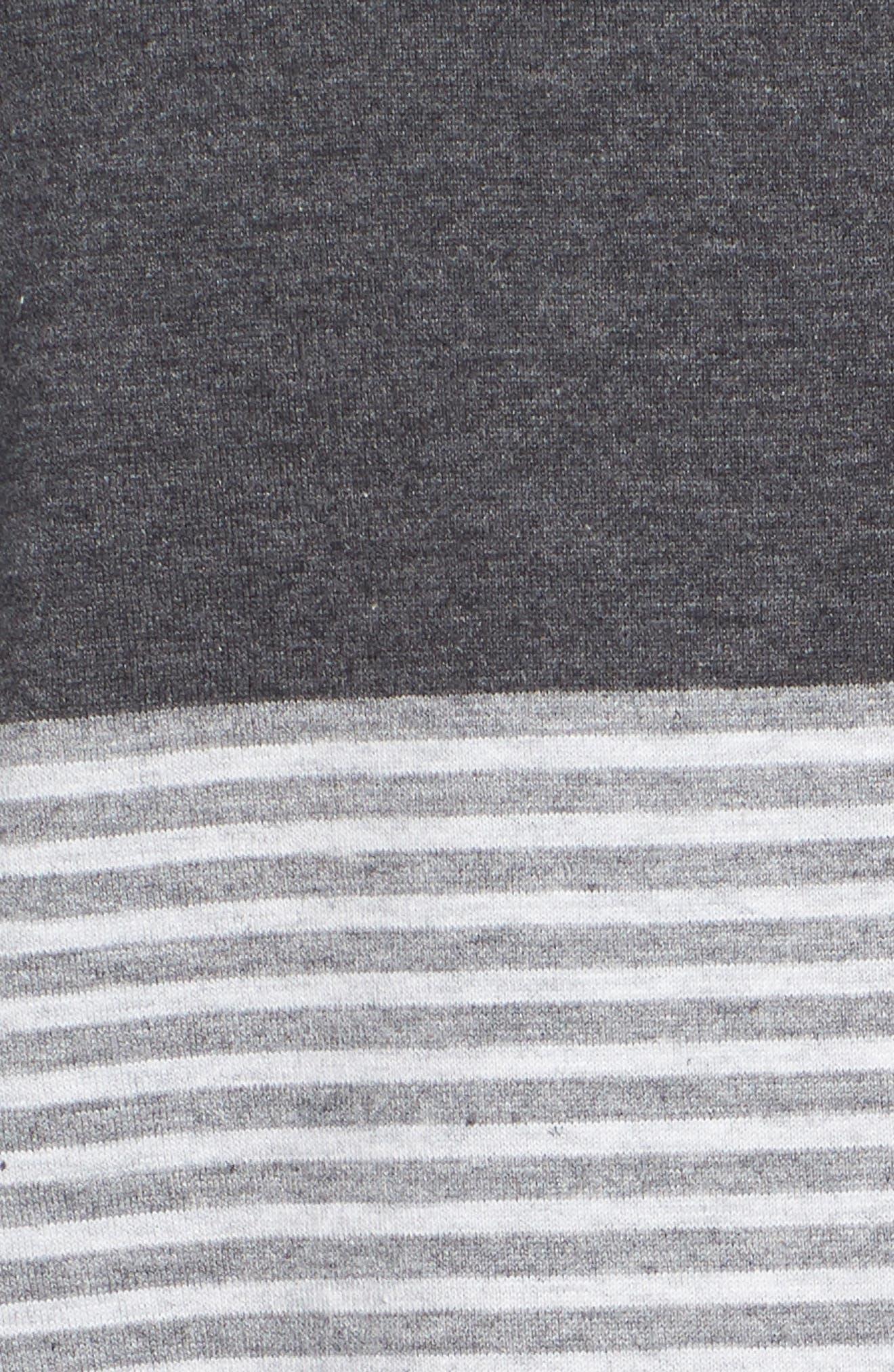 Baisch Regular Fit Polo,                             Alternate thumbnail 5, color,                             HEATHER GREY PINSTRIPE