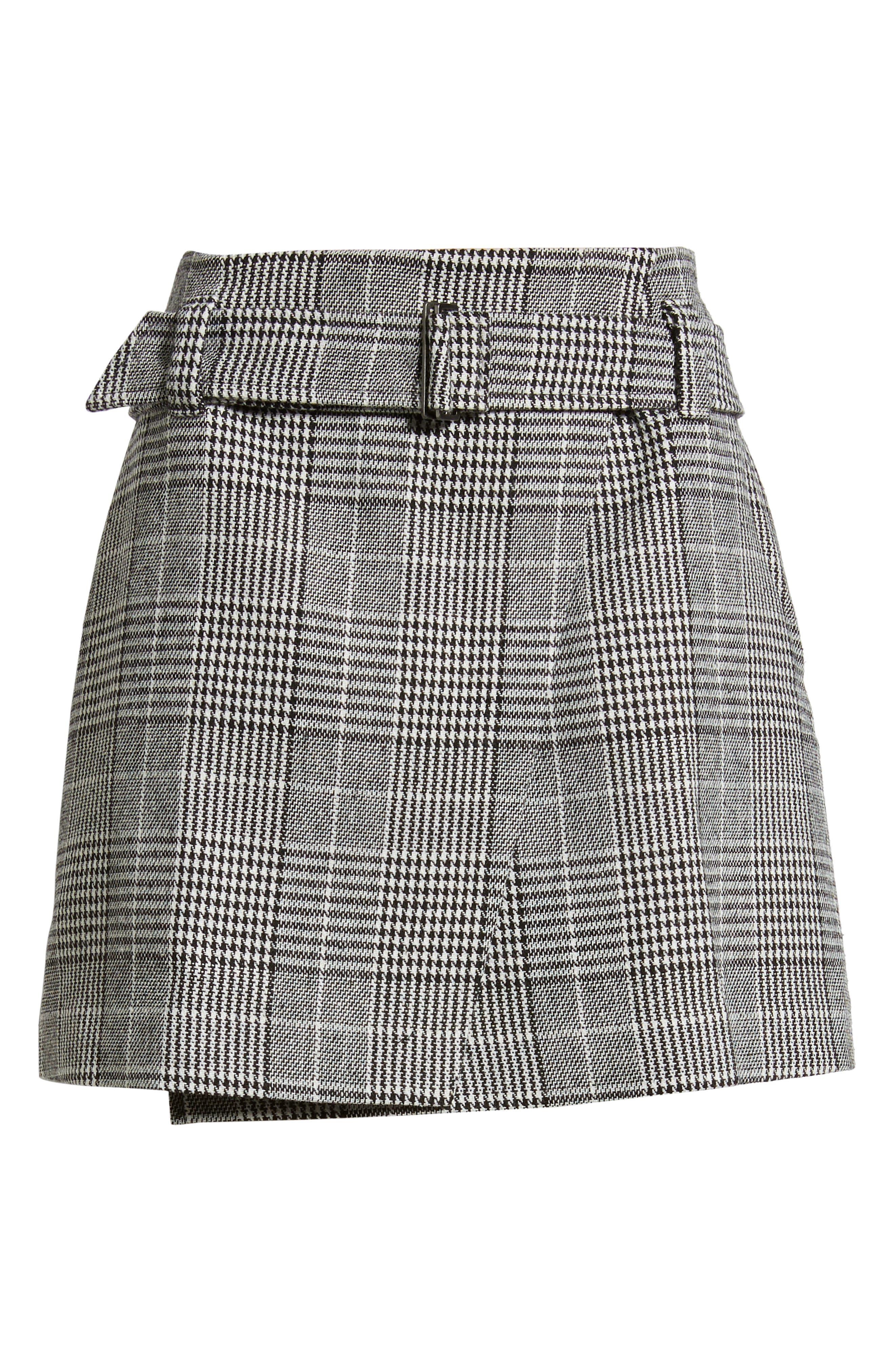 Plaid Miniskirt,                             Alternate thumbnail 6, color,                             BLACK SHAROL PLAID