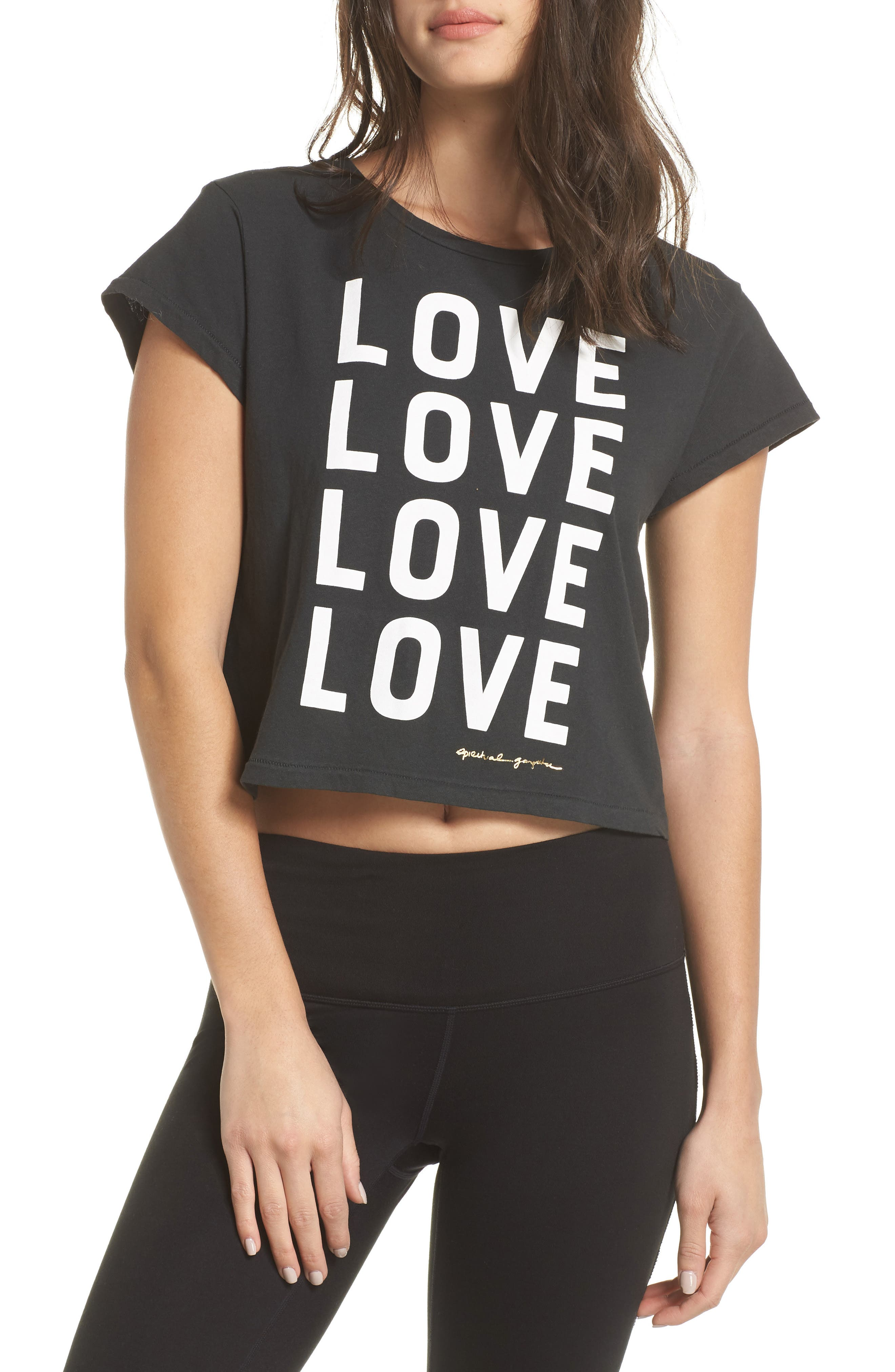 Love Vintage Crop Tee,                         Main,                         color, VINTAGE BLACK