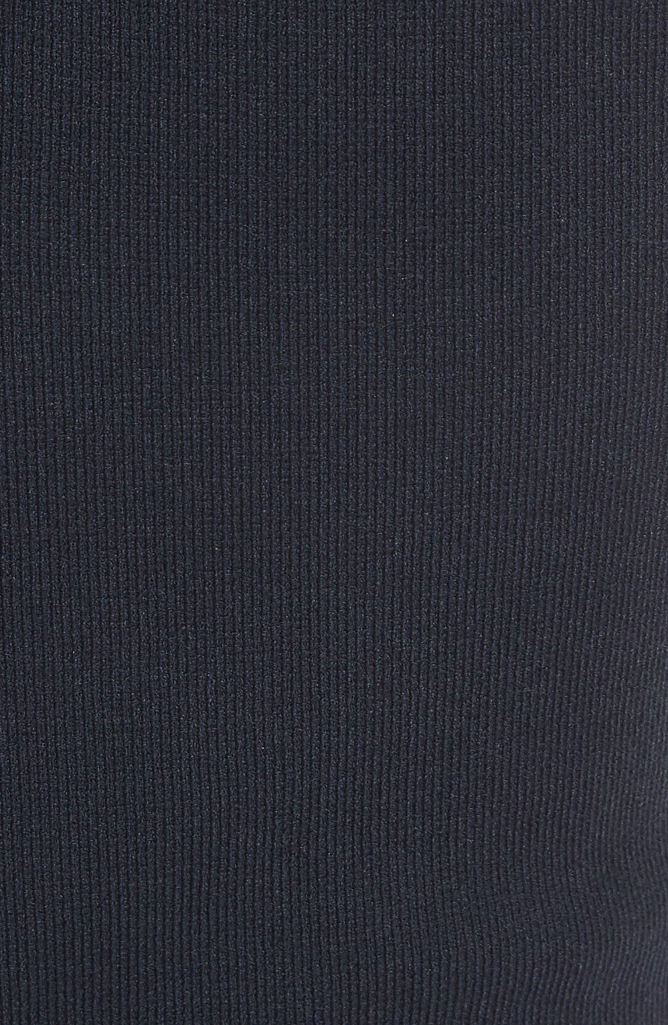 Woven Trim Fit & Flare Dress,                             Alternate thumbnail 5, color,