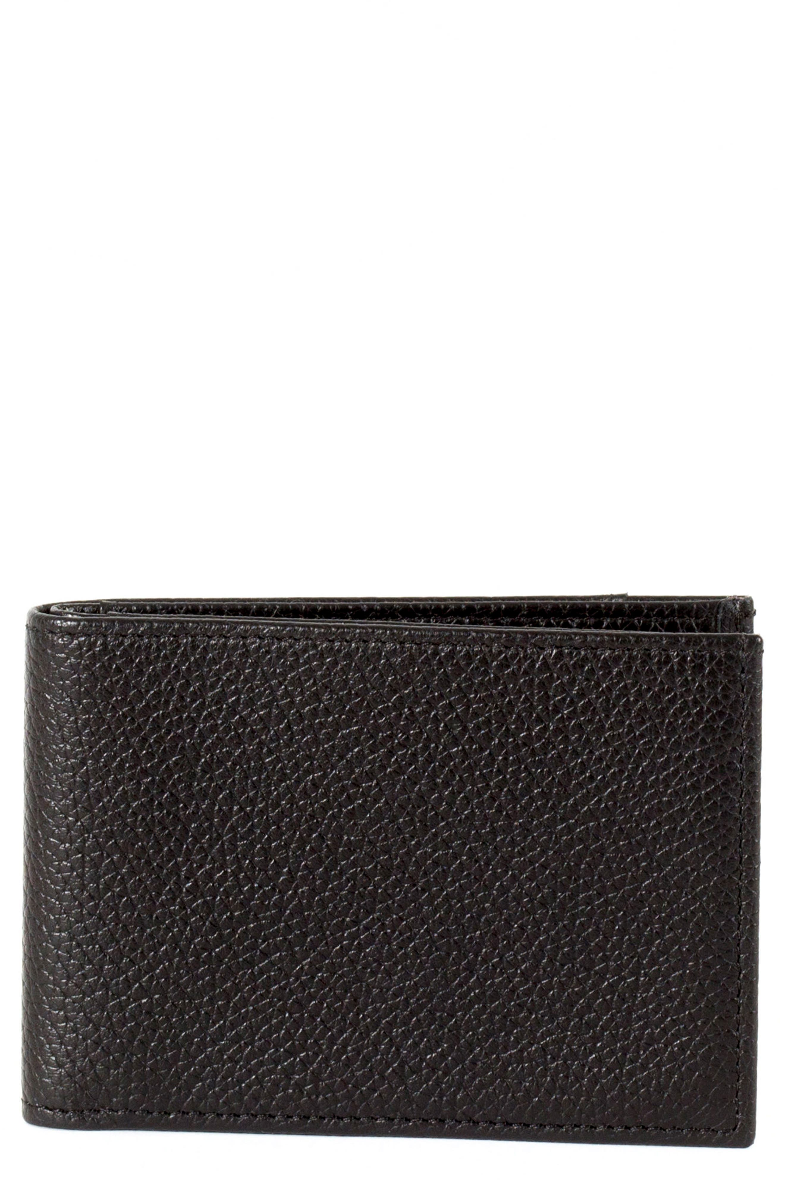 Garth Leather Bifold Wallet,                             Main thumbnail 1, color,                             001