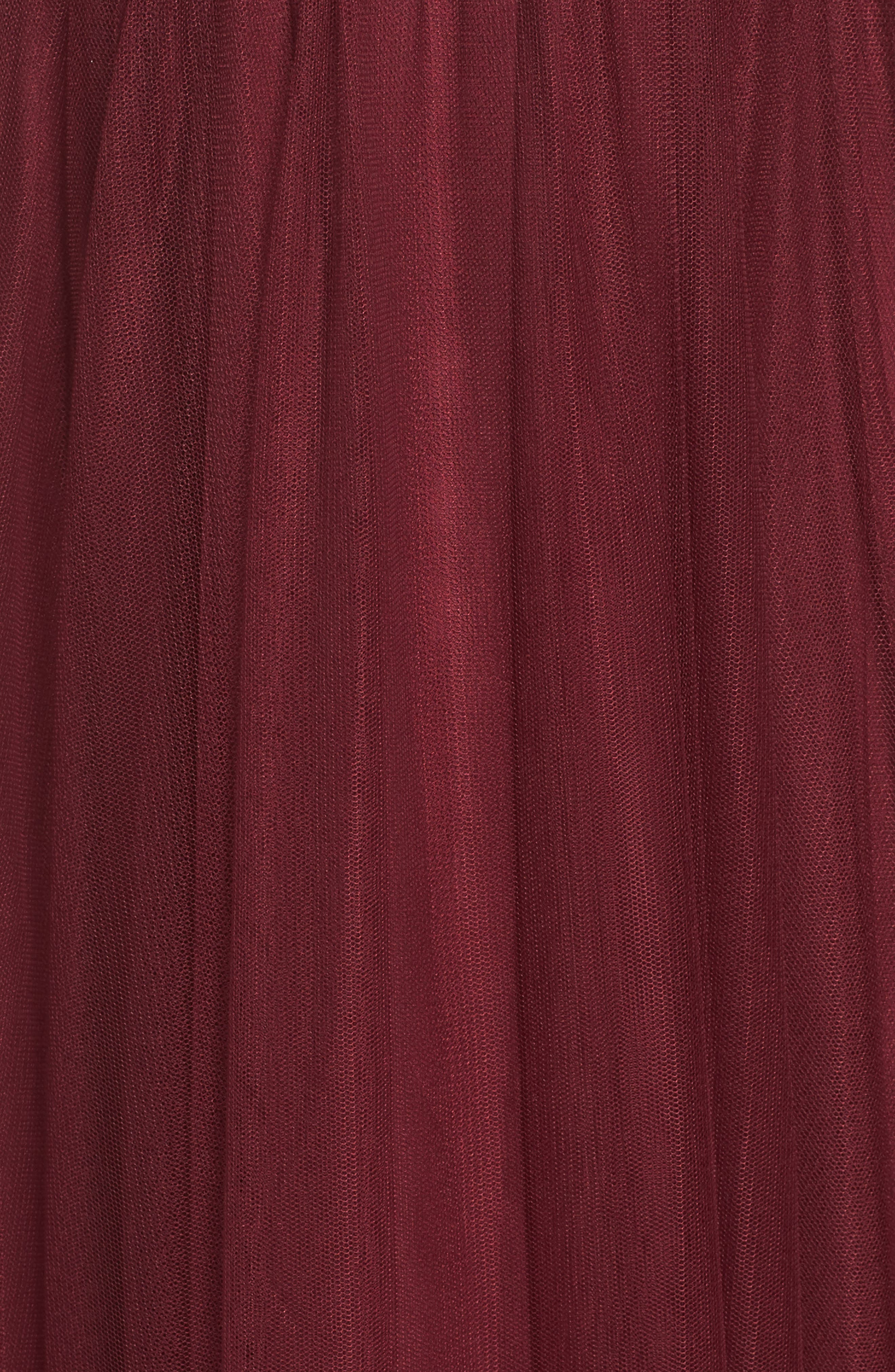 High Neck Pleated English Net Gown,                             Alternate thumbnail 5, color,                             930