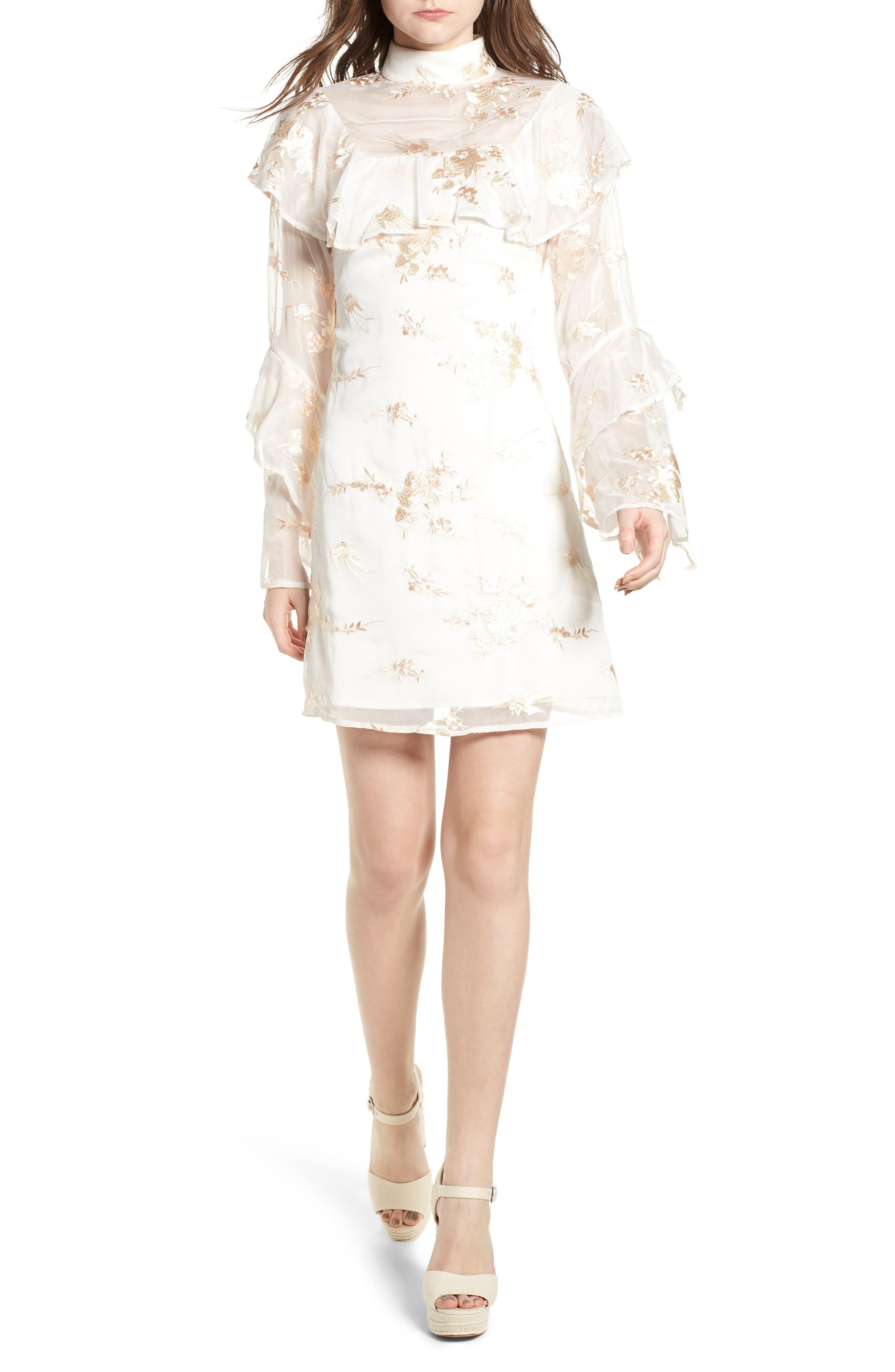 ELLIATT,                             Composition Dress,                             Main thumbnail 1, color,                             100