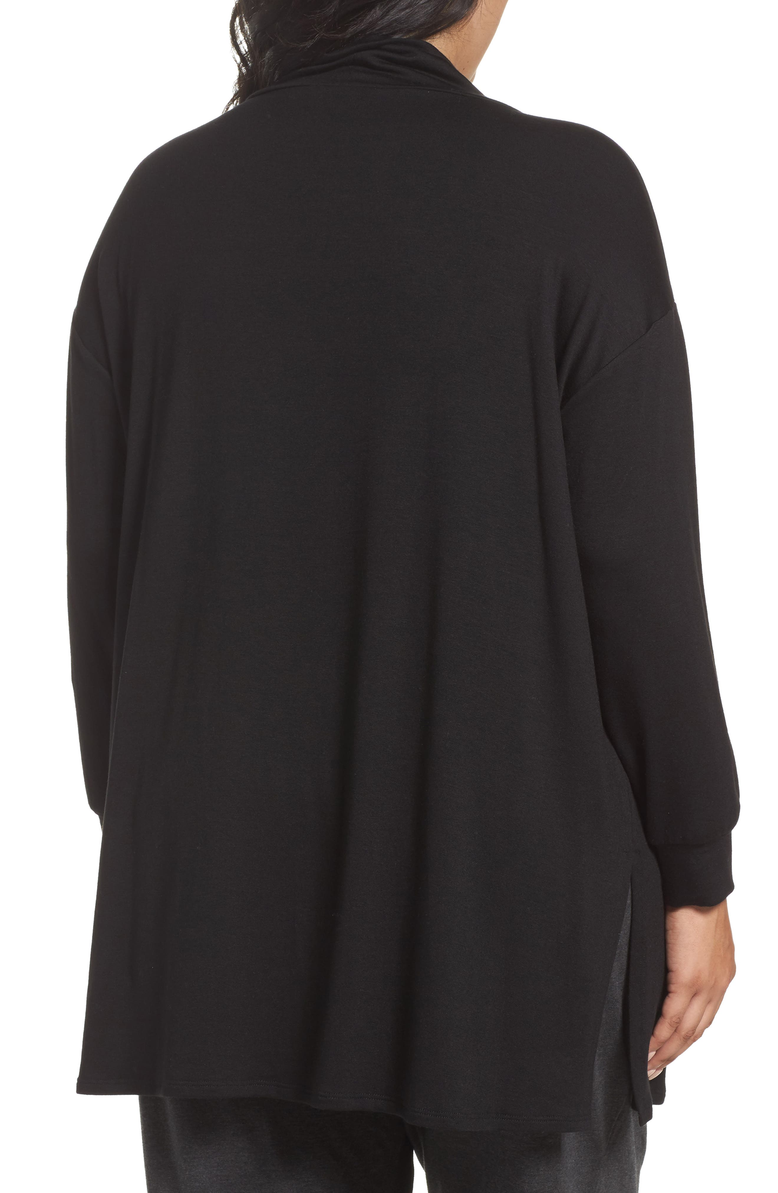 Funnel Neck Jersey Tunic,                             Alternate thumbnail 2, color,                             001