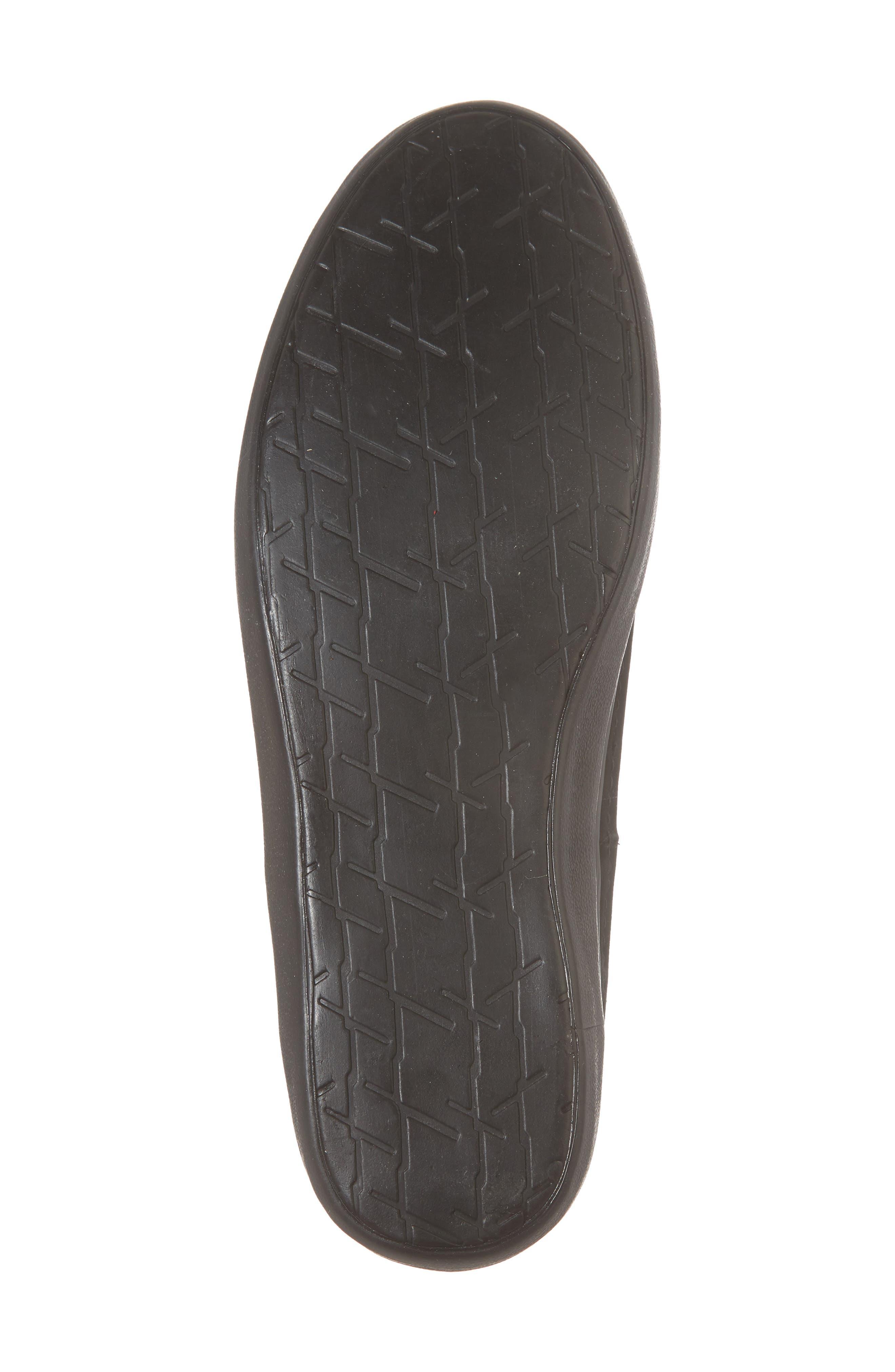 Suede Jet Slip-On Sneaker,                             Alternate thumbnail 6, color,                             BLACK SUEDE