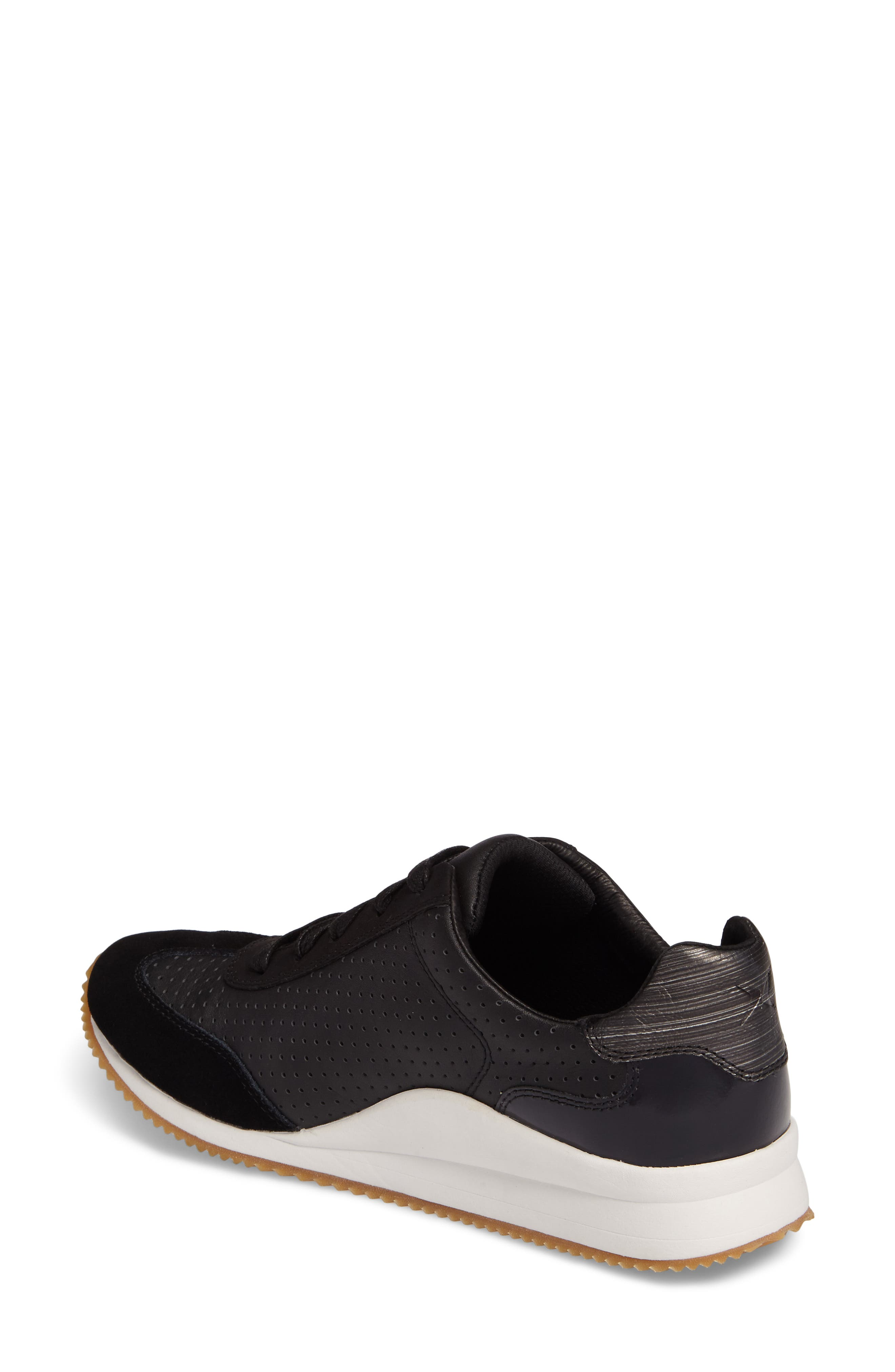 Nadia Sneaker,                             Alternate thumbnail 2, color,                             BLACK LEATHER