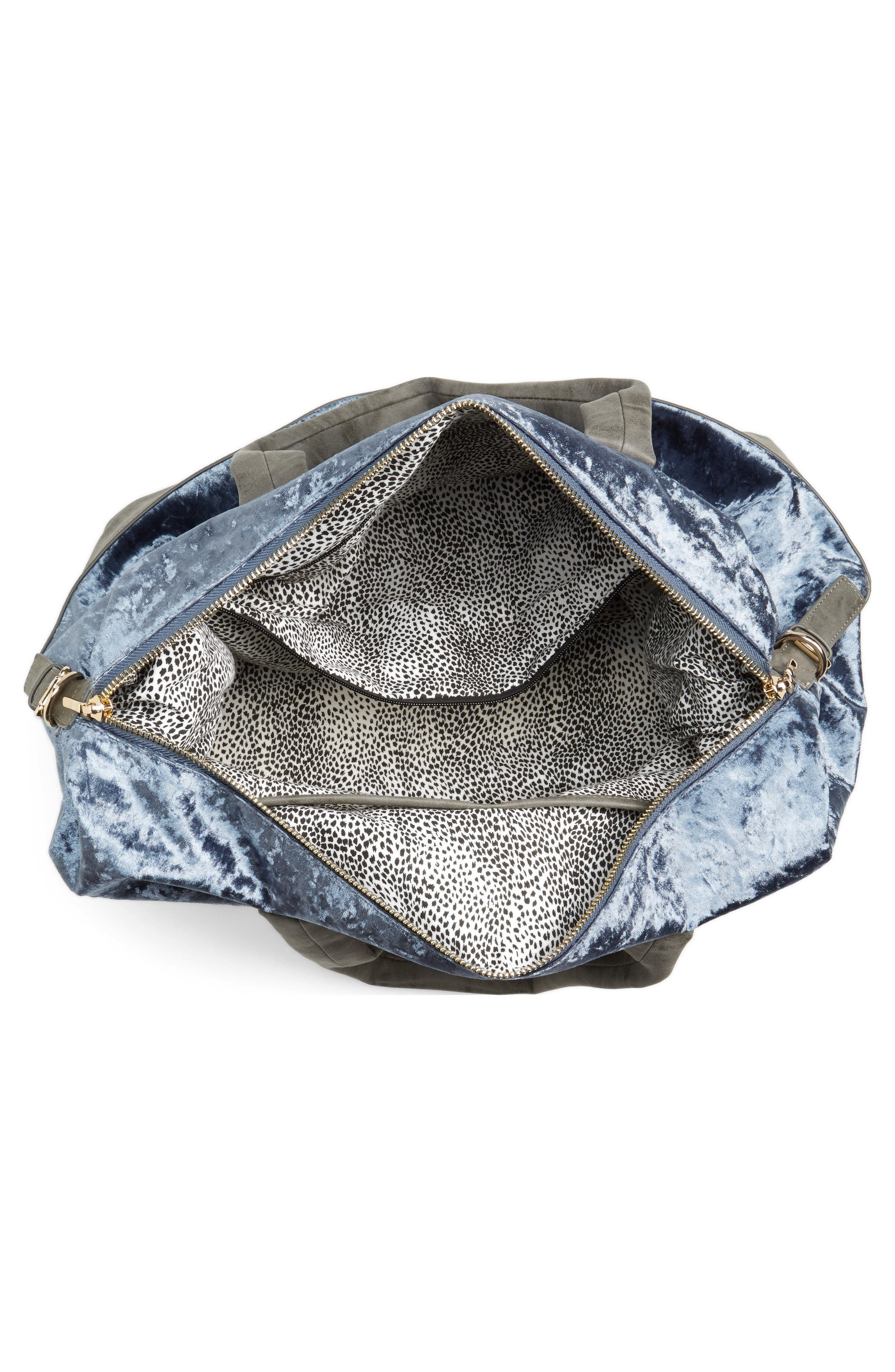 Venti Velvet Duffel Bag,                             Alternate thumbnail 8, color,