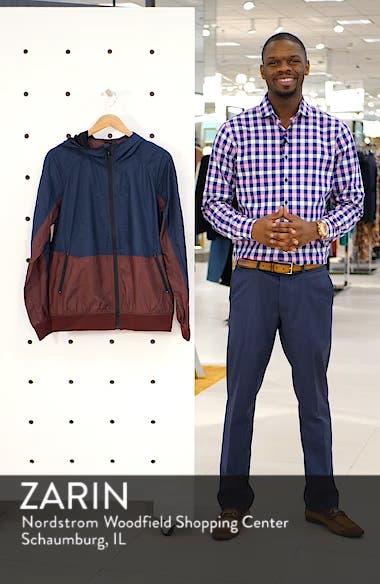 Colorblock Hooded Windbreaker Jacket, sales video thumbnail