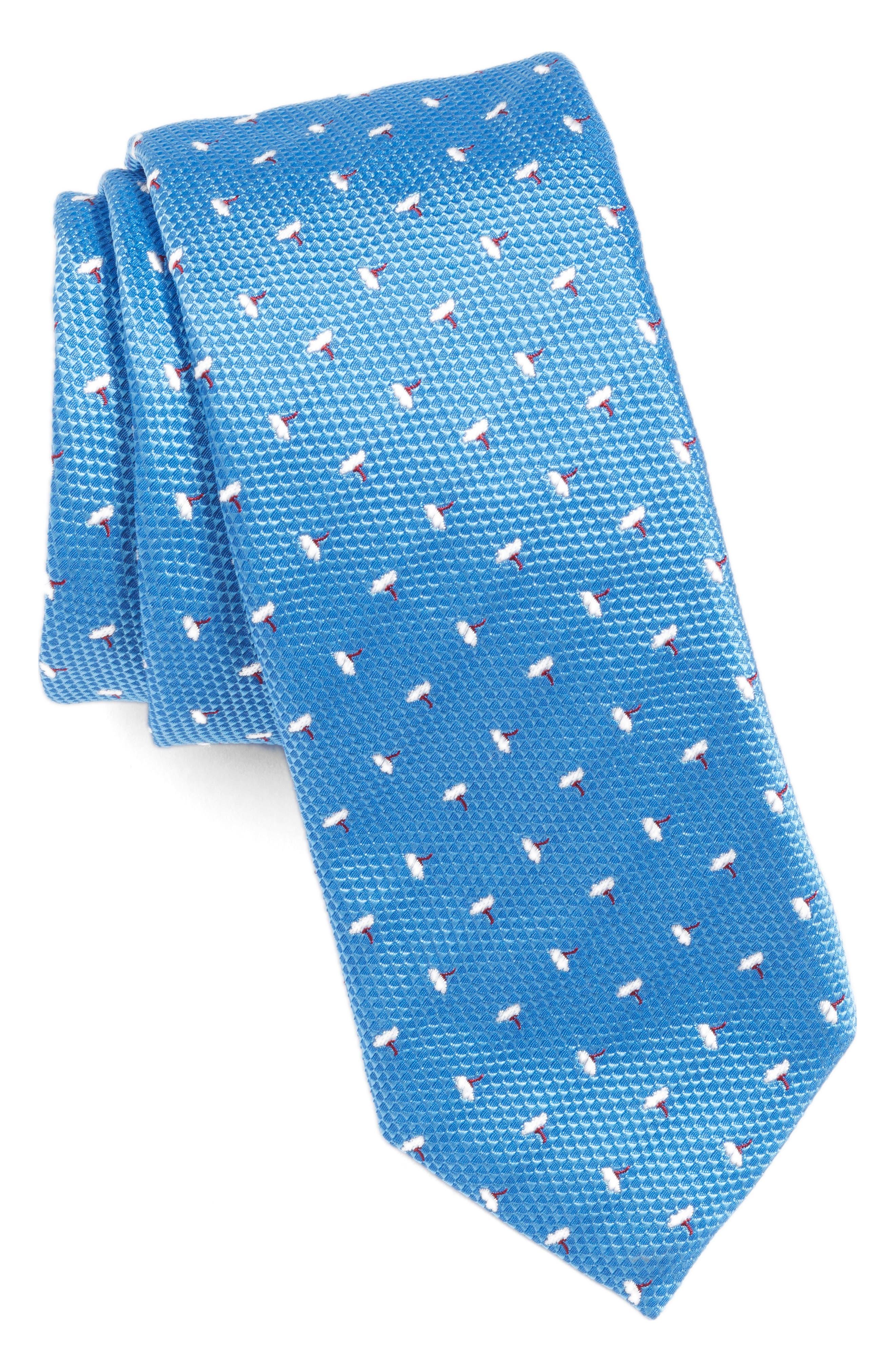 BOSS Floral Silk Tie, Main, color, 451