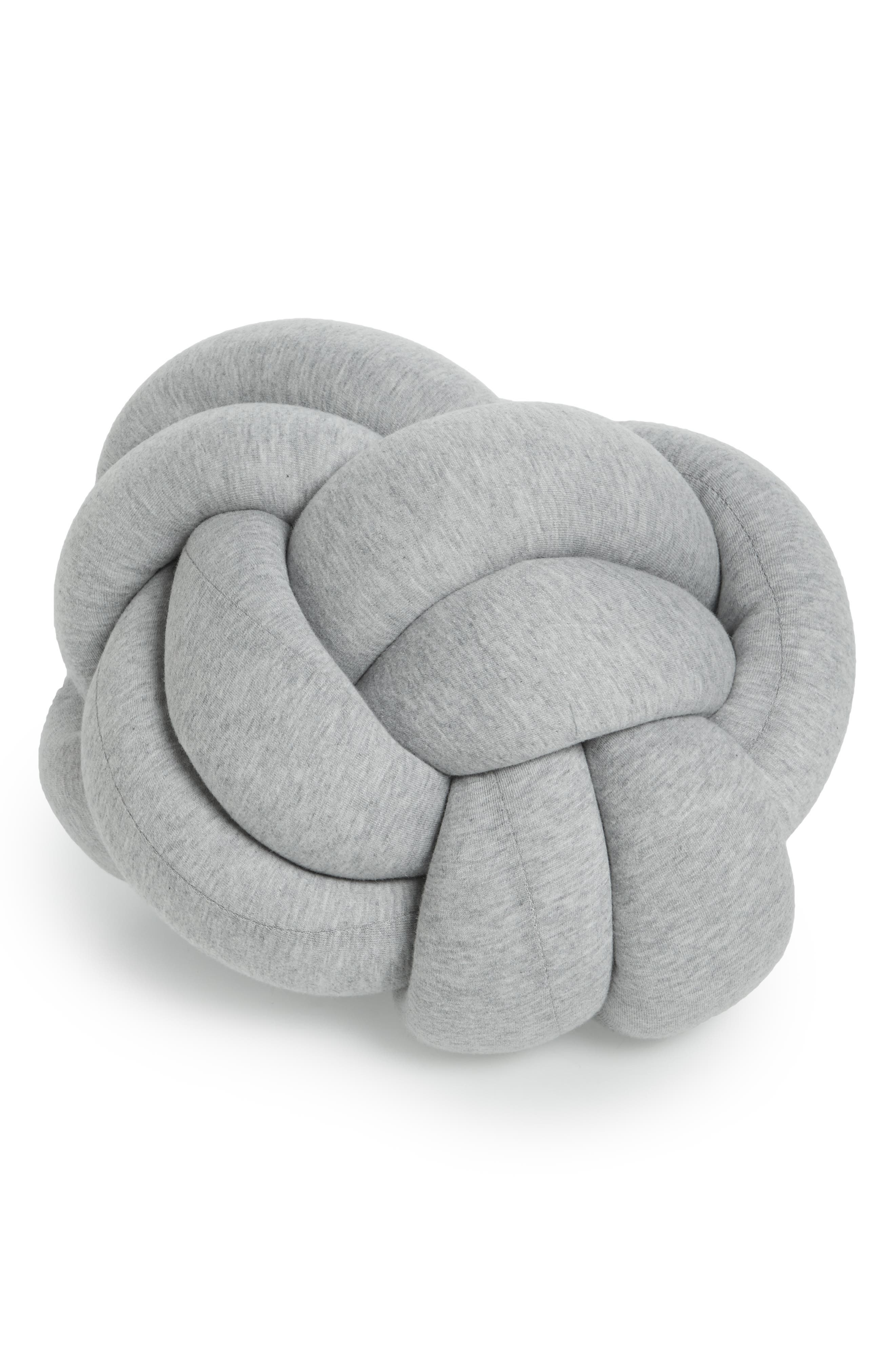 Jersey Knot Pillow,                         Main,                         color, 020