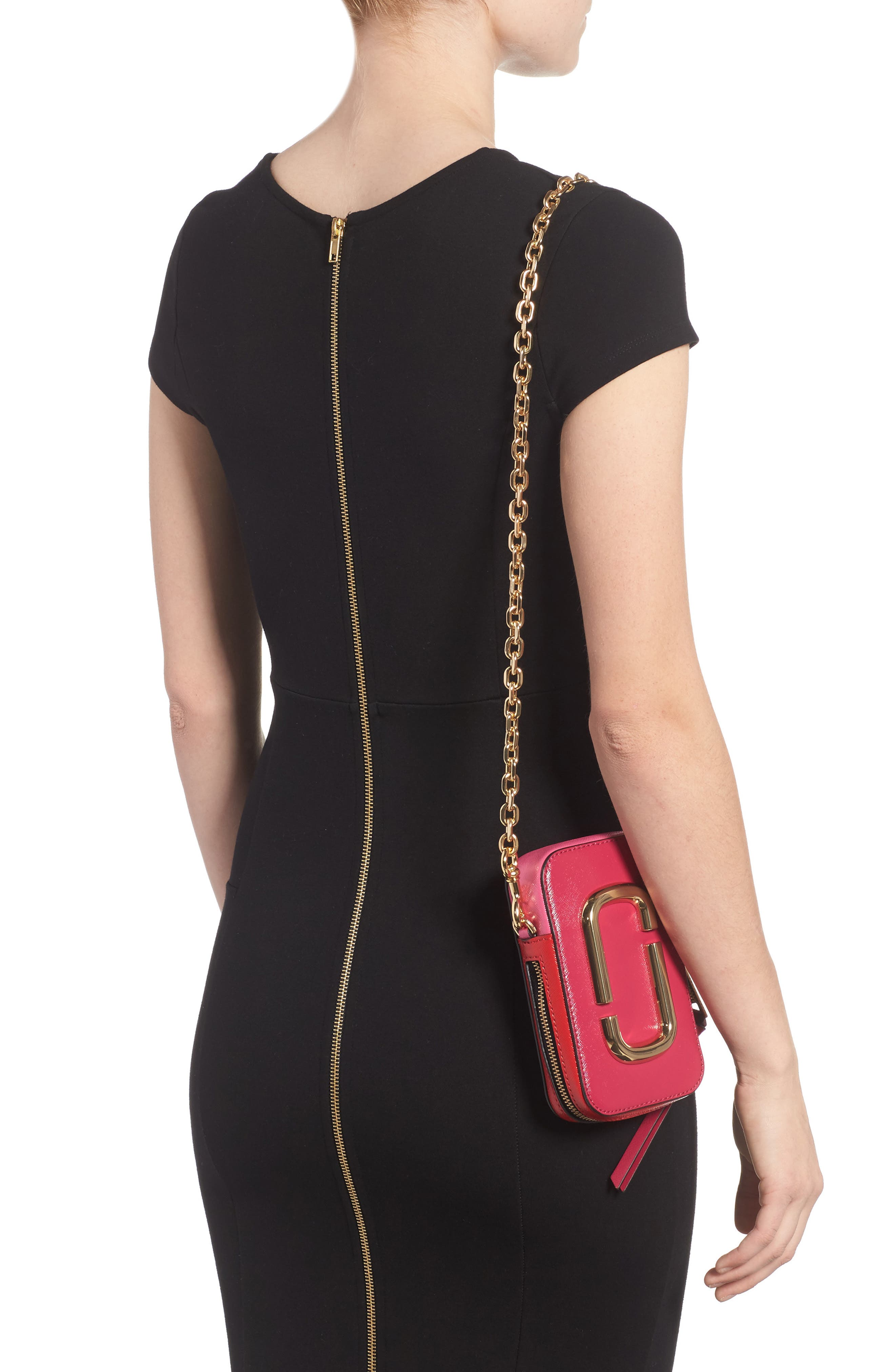 Hot Shot Saffiano Leather Shoulder Bag,                             Alternate thumbnail 6, color,