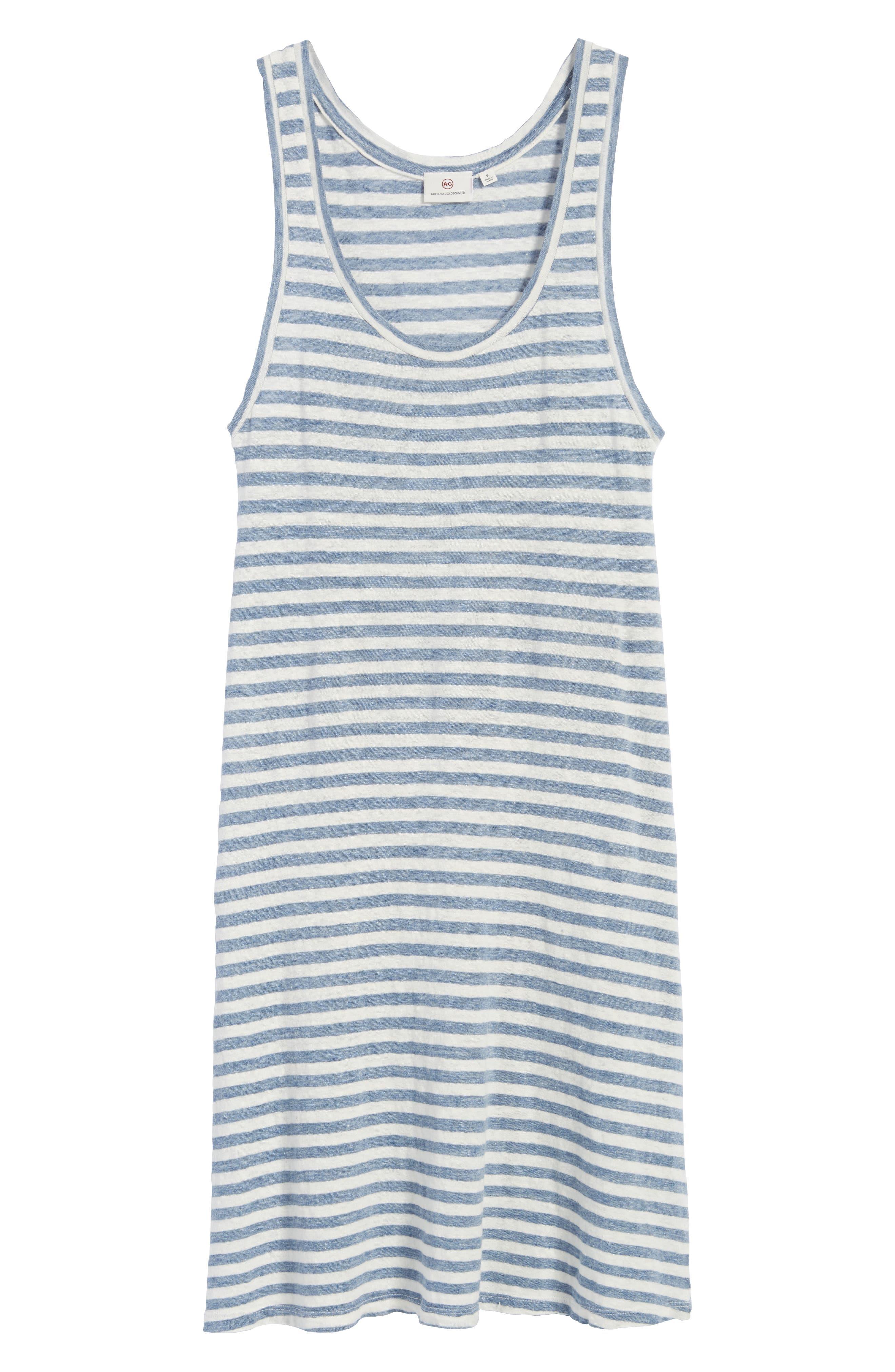 Avril Linen Tank Dress,                             Alternate thumbnail 6, color,                             433