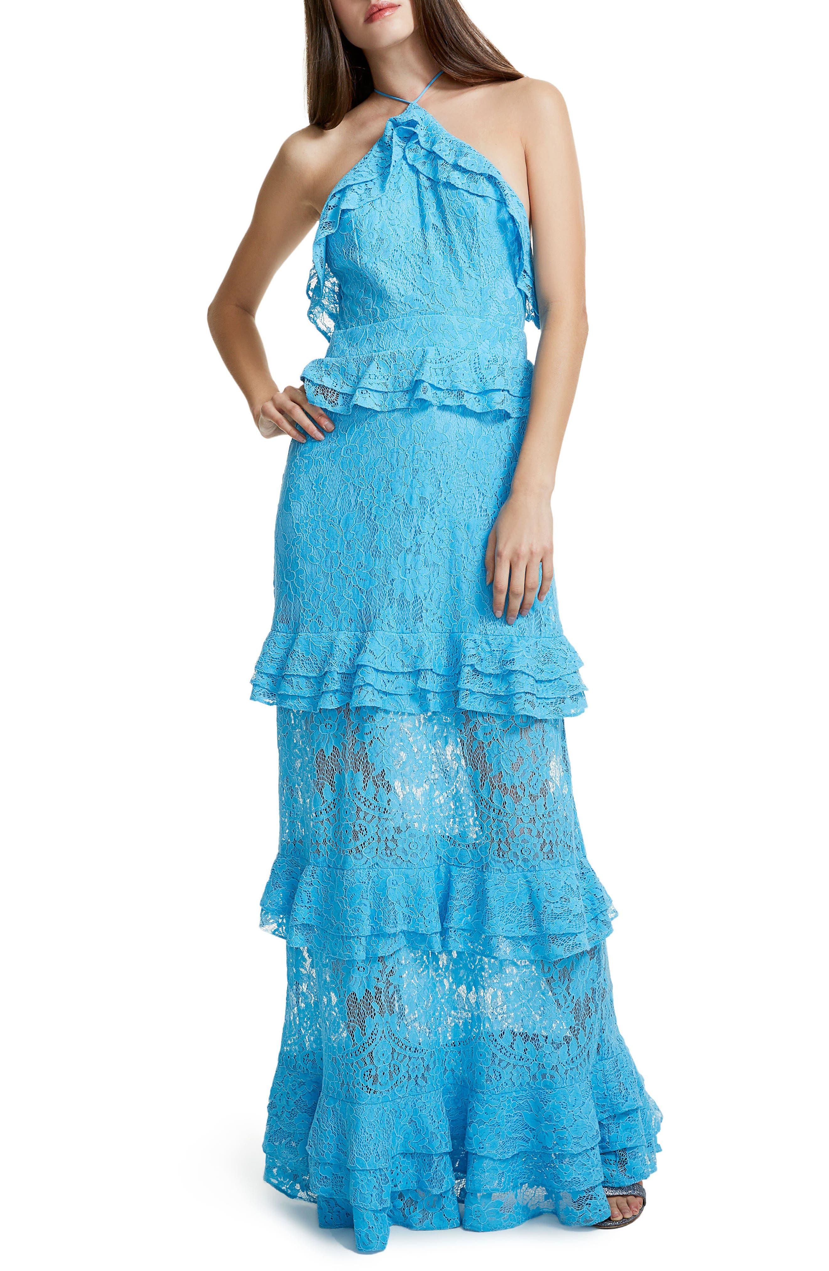 Violet Ruffle Maxi Dress,                         Main,                         color, 400