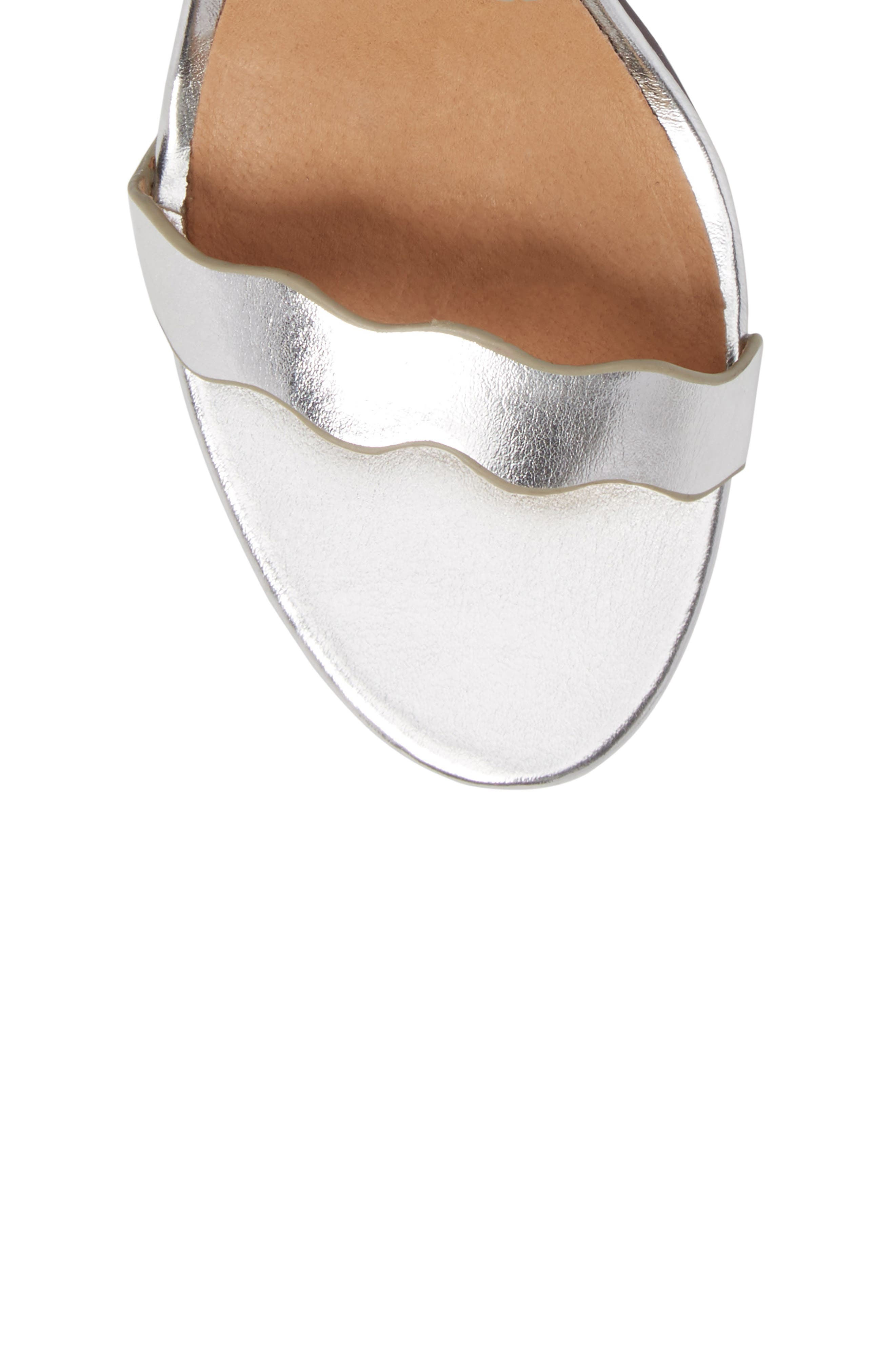 'Rubie' Scalloped Ankle Strap Sandal,                             Alternate thumbnail 5, color,                             040
