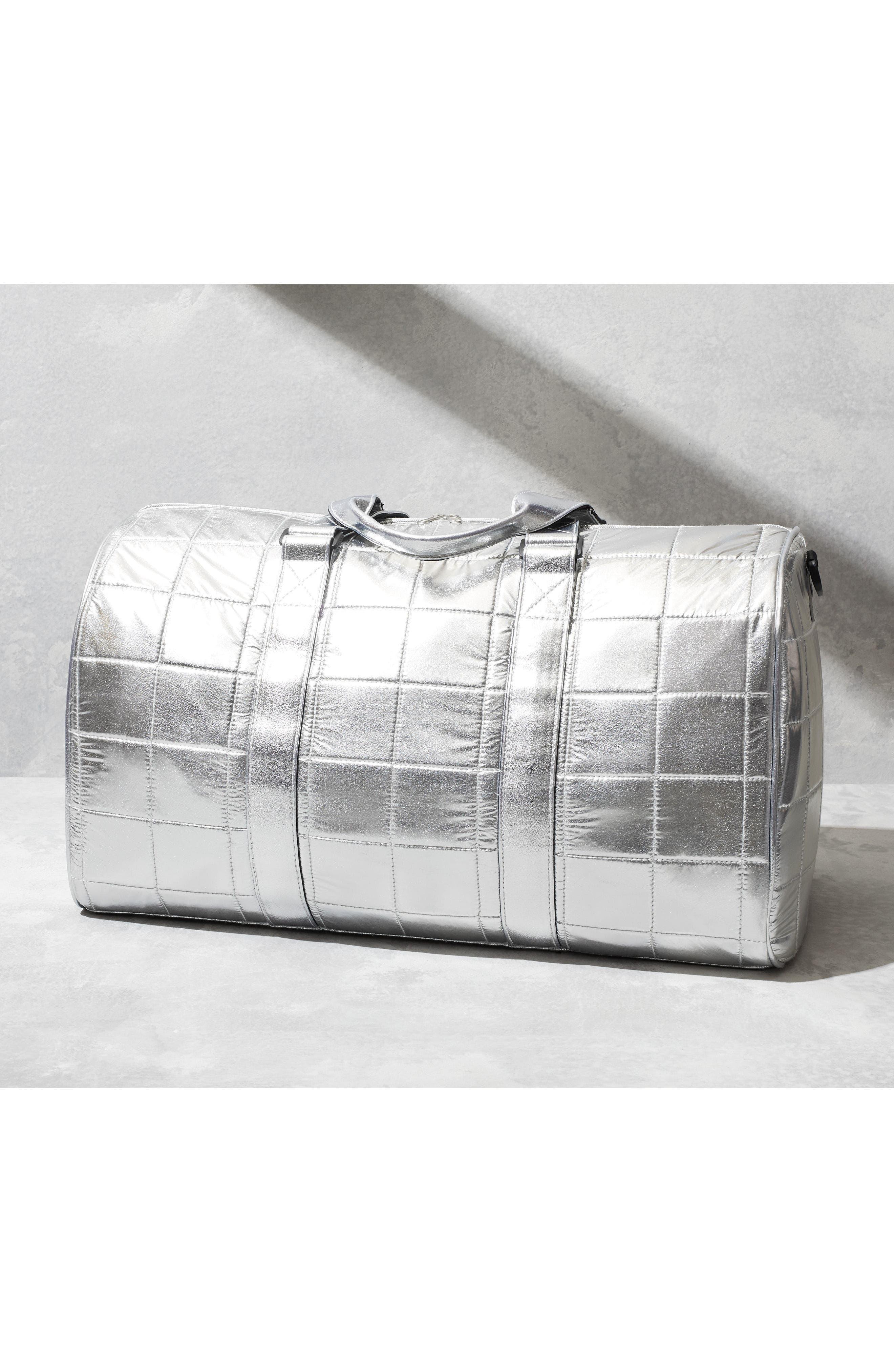 Puffer Duffel Bag,                             Alternate thumbnail 7, color,                             001