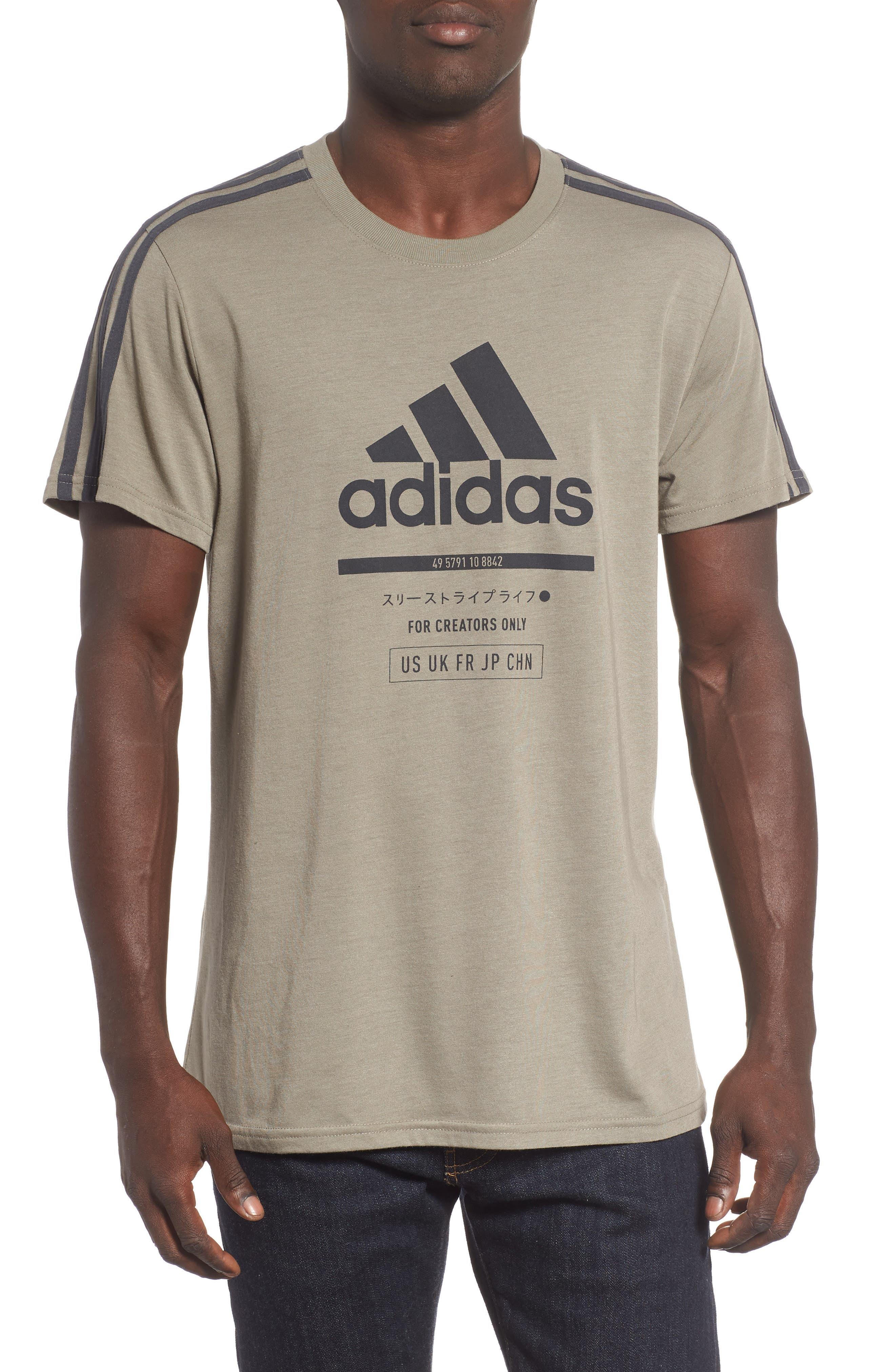 Classic International Crewneck T-Shirt, Main, color, 001