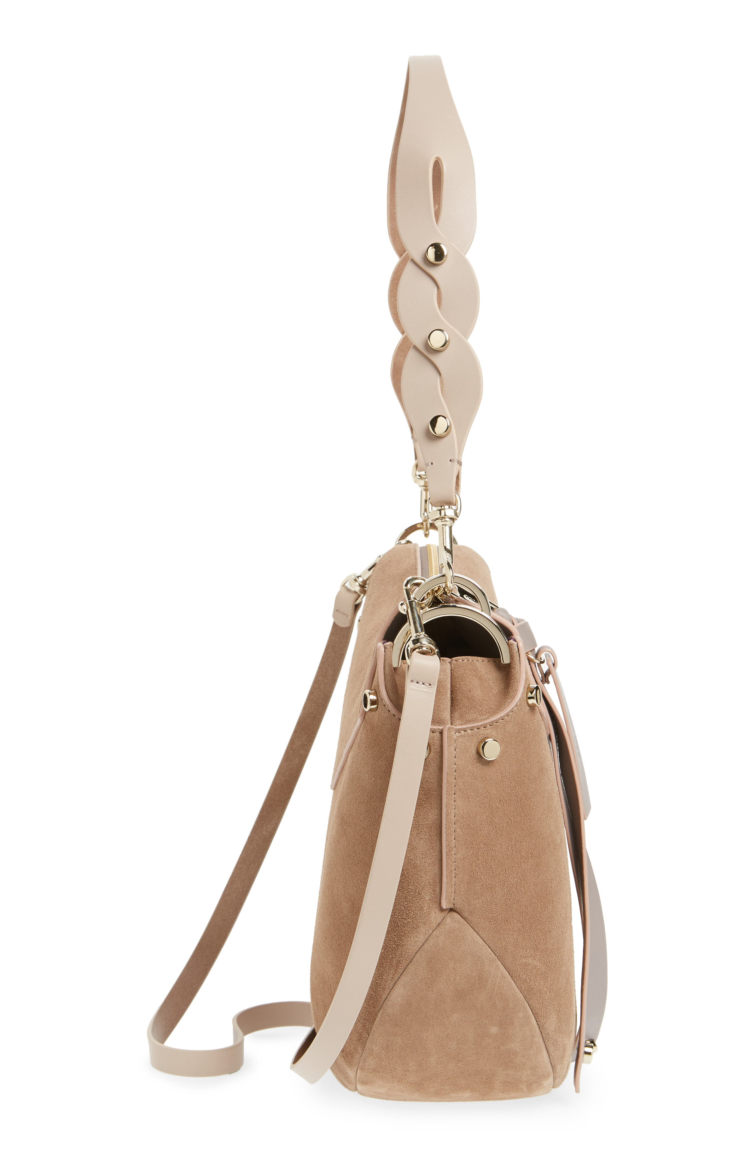 Artie Suede Hobo Bag,                             Alternate thumbnail 15, color,