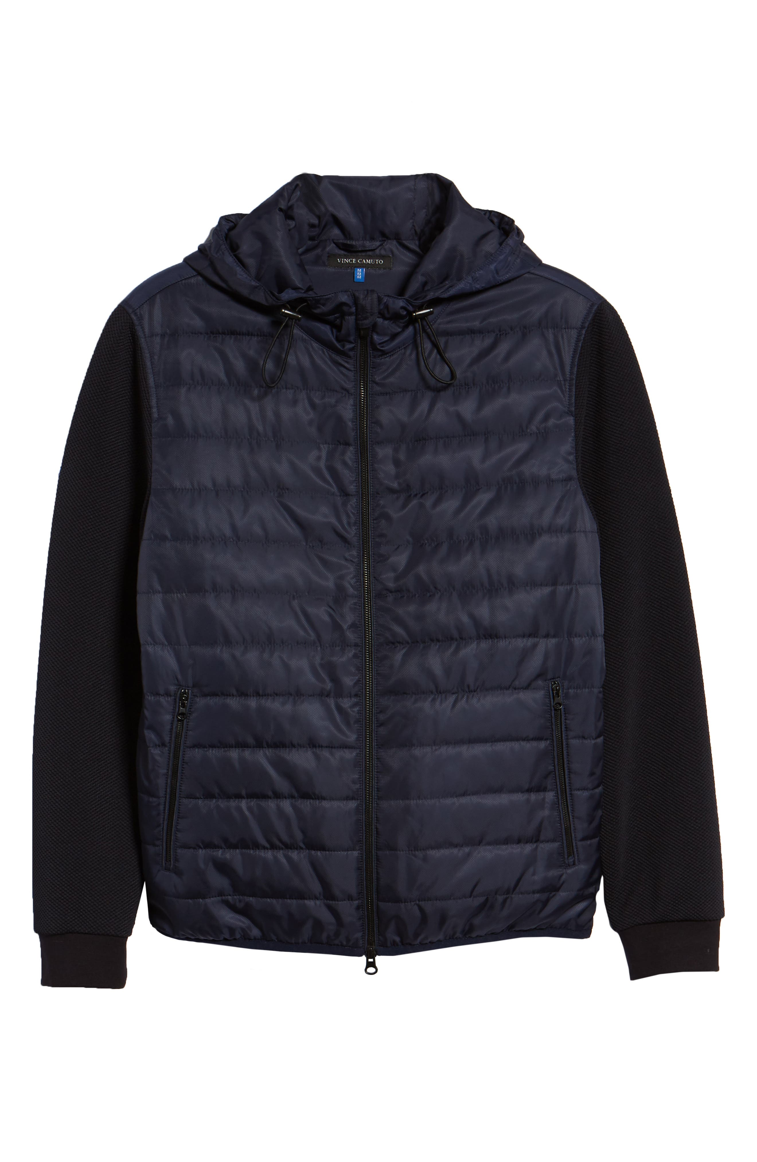Slim Fit Quilted Performance Jacket,                             Alternate thumbnail 6, color,                             NAVY