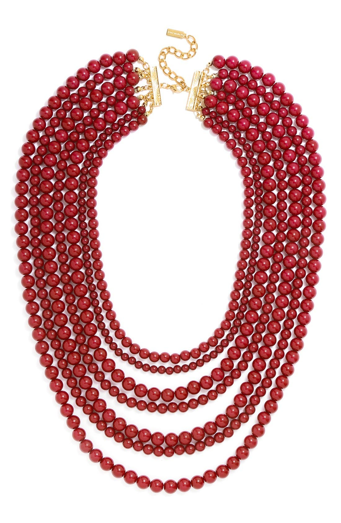 'Bold' Multistrand Beaded Statement Necklace,                             Main thumbnail 10, color,