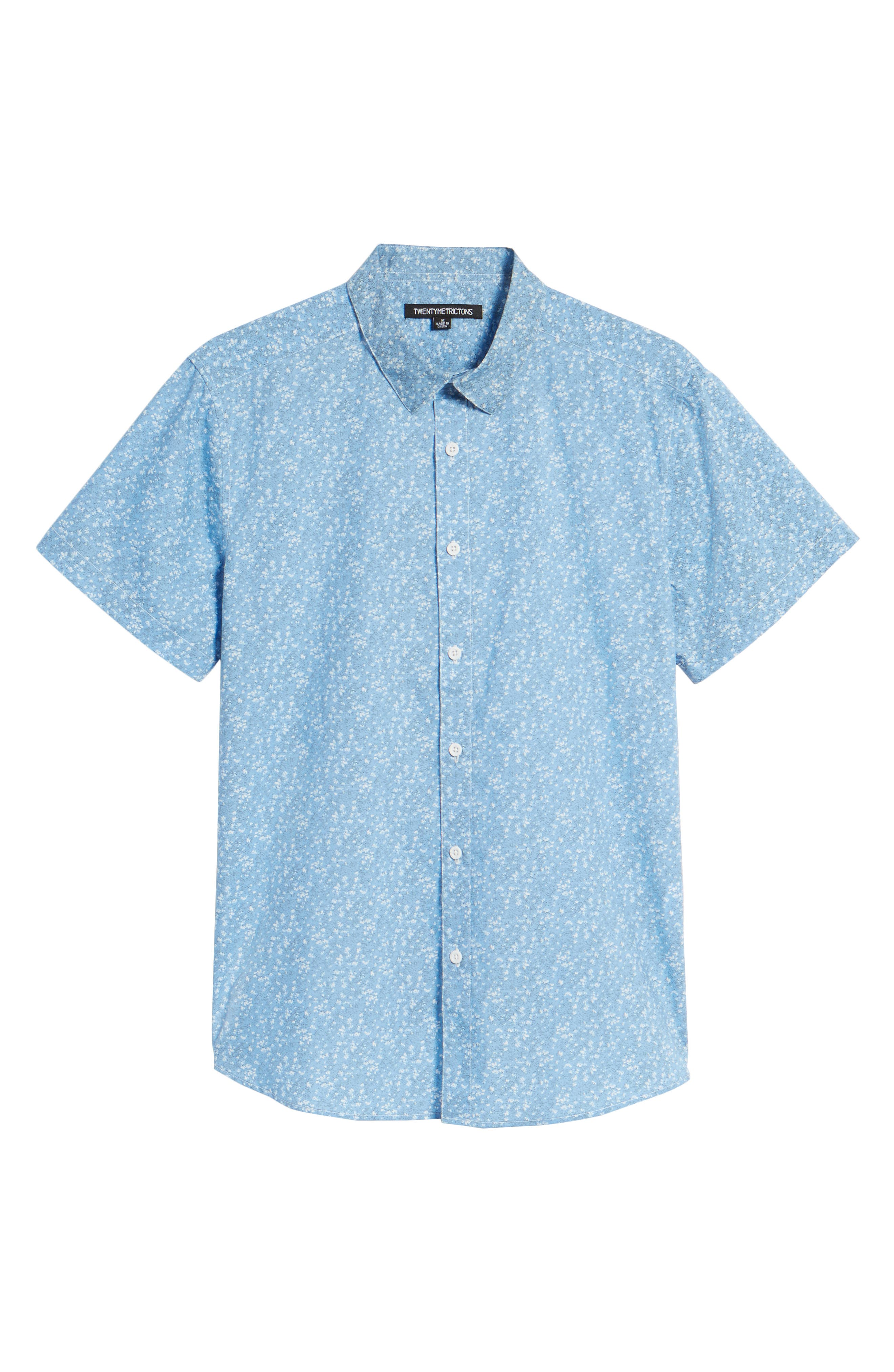 Print Woven Short Sleeve Shirt,                             Alternate thumbnail 6, color,                             463