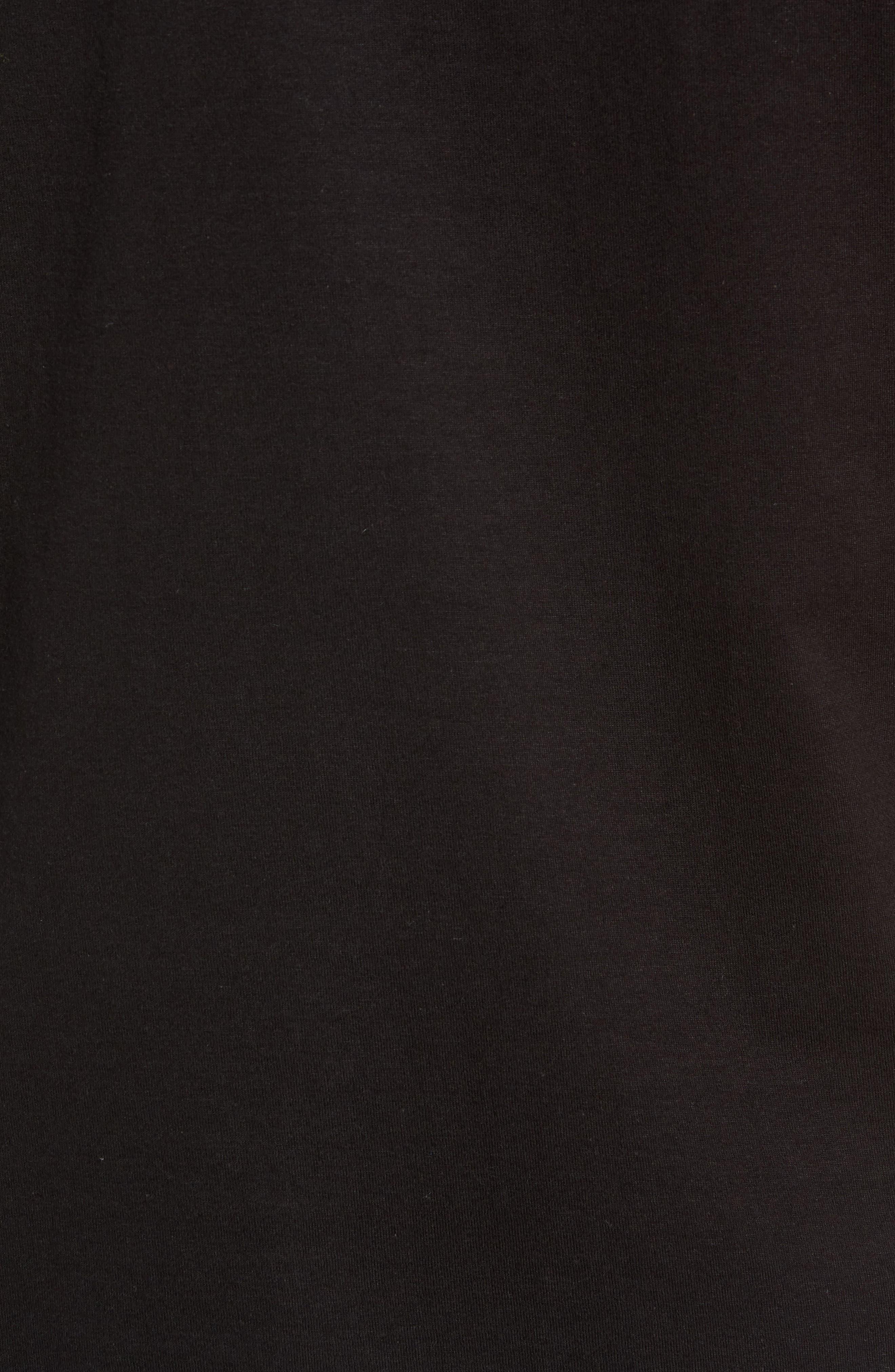 Classic Logo T-Shirt,                             Alternate thumbnail 5, color,                             BLACK/ WHITE