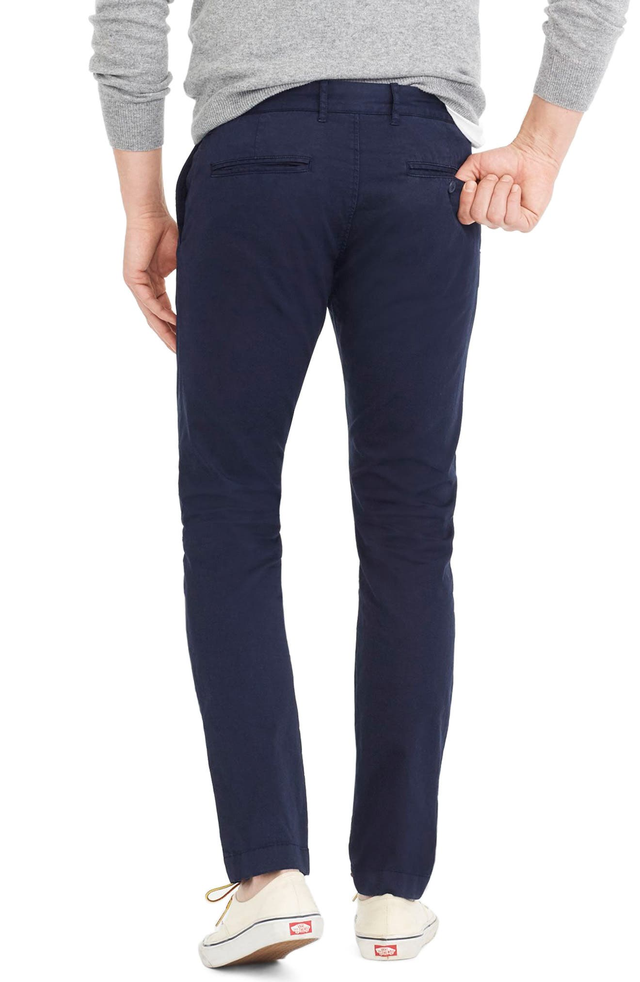 Slim Fit Garment Dyed Stretch Chinos,                             Alternate thumbnail 8, color,